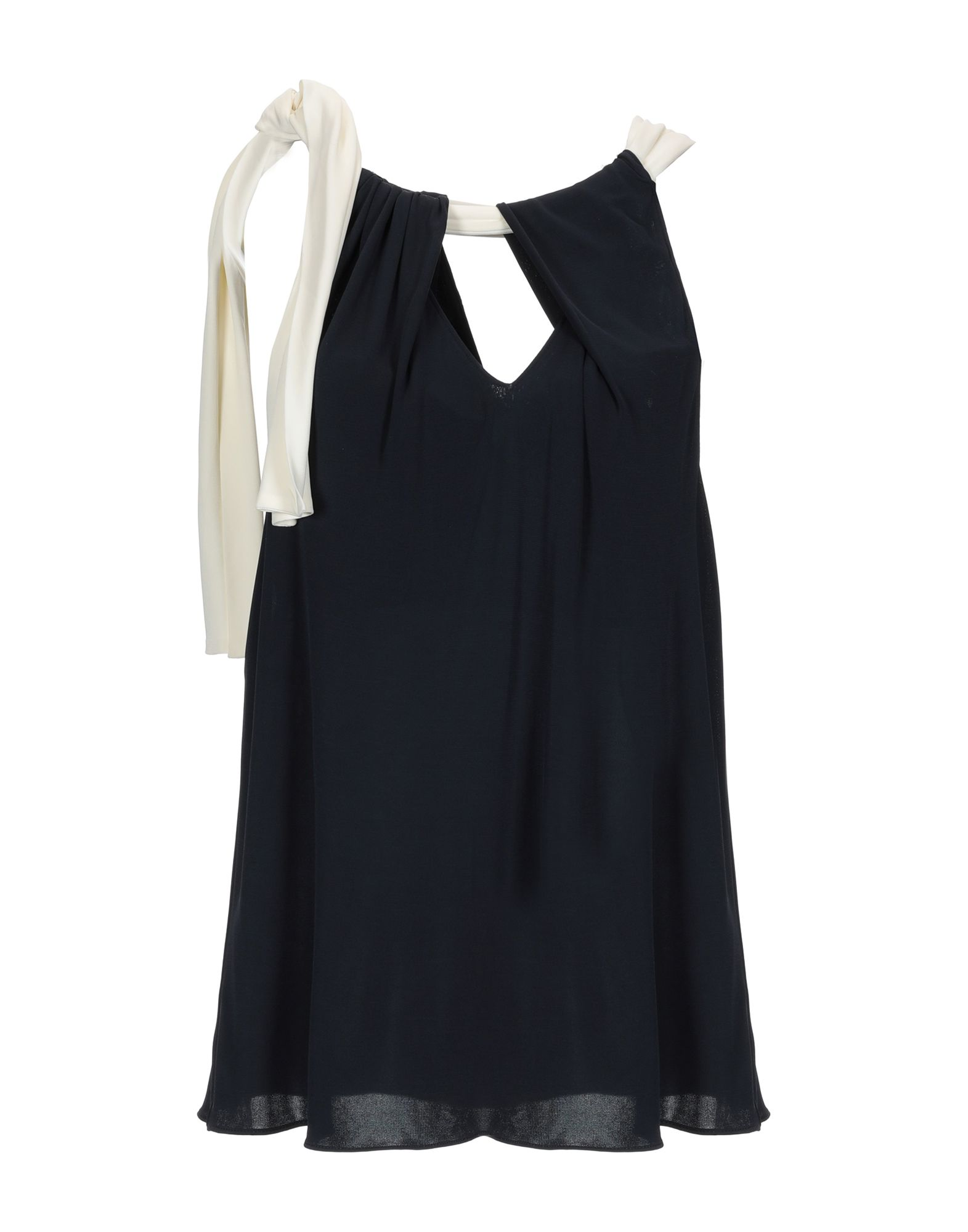 MOSCHINO CHEAP AND CHIC Топ без рукавов chic plain v neck chiffon blouse