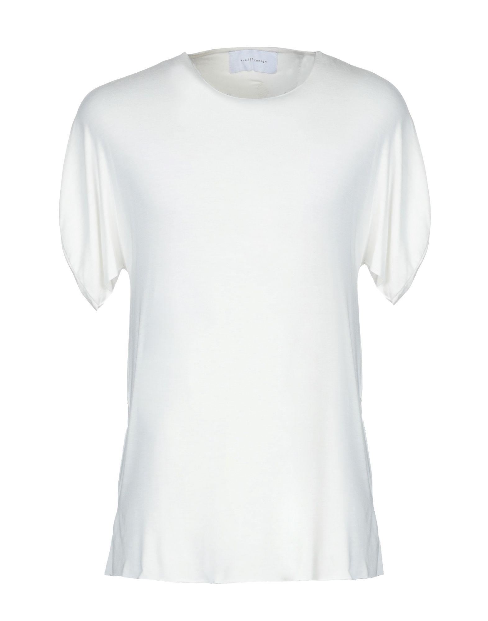 《セール開催中》ART 259 DESIGN by ALBERTO AFFINITO メンズ T シャツ ホワイト M レーヨン 100%