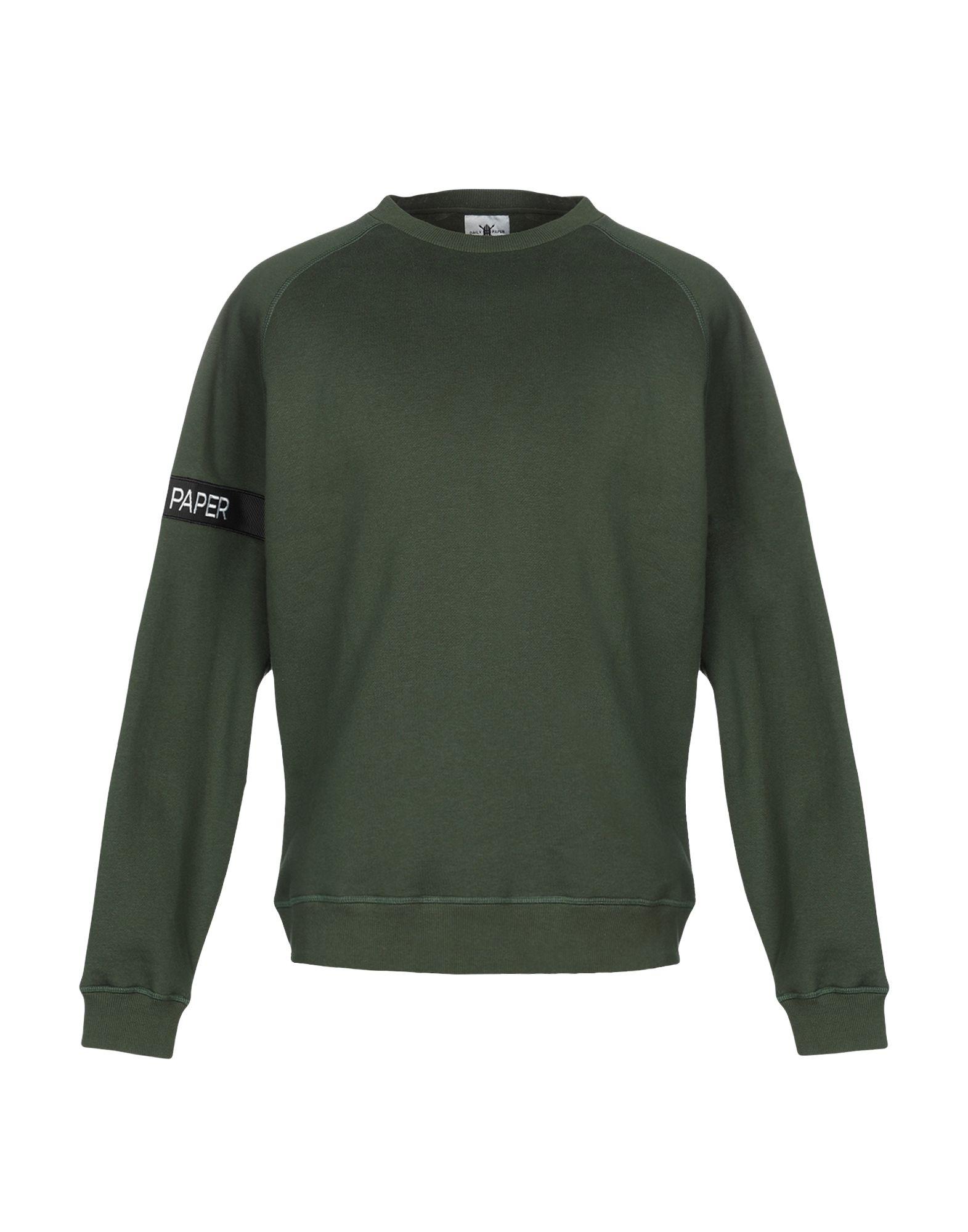 《期間限定セール中》DAILY PAPER メンズ スウェットシャツ グリーン L コットン 100%