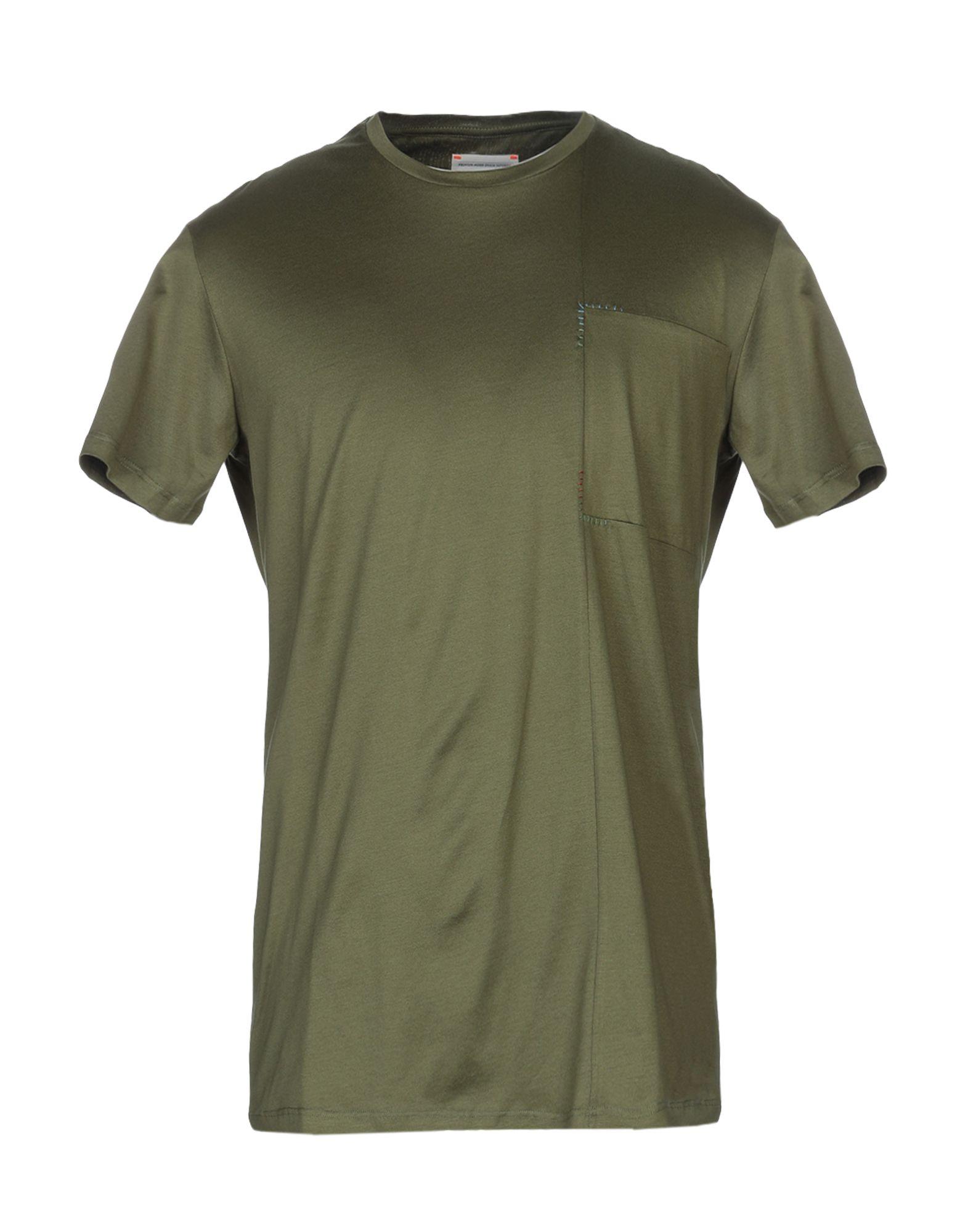 《セール開催中》PMDS PREMIUM MOOD DENIM SUPERIOR メンズ T シャツ ミリタリーグリーン S コットン 100%