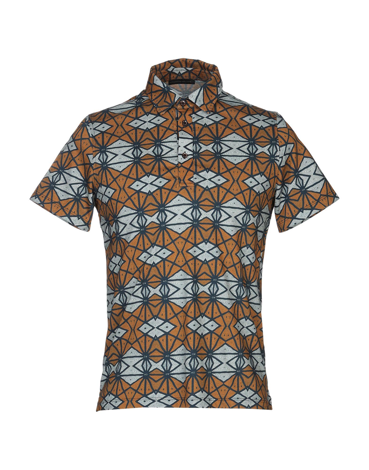 《セール開催中》ALESSANDRO DELL'ACQUA メンズ ポロシャツ ブラウン S コットン 100%