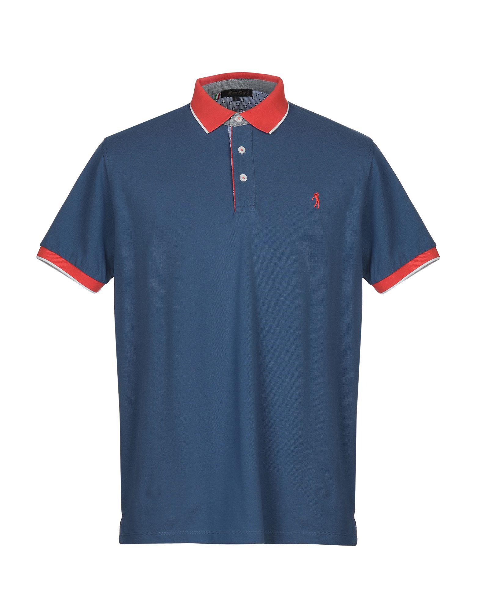 《送料無料》GREAT BAY メンズ ポロシャツ ブルーグレー XXL コットン 100%