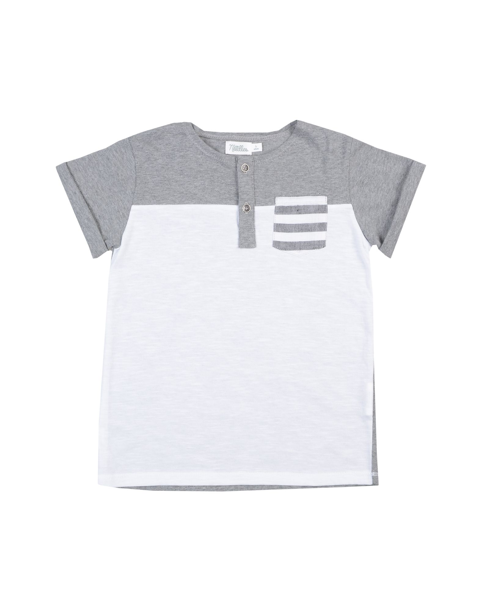 Two Needles Kids' T-shirts In Gray