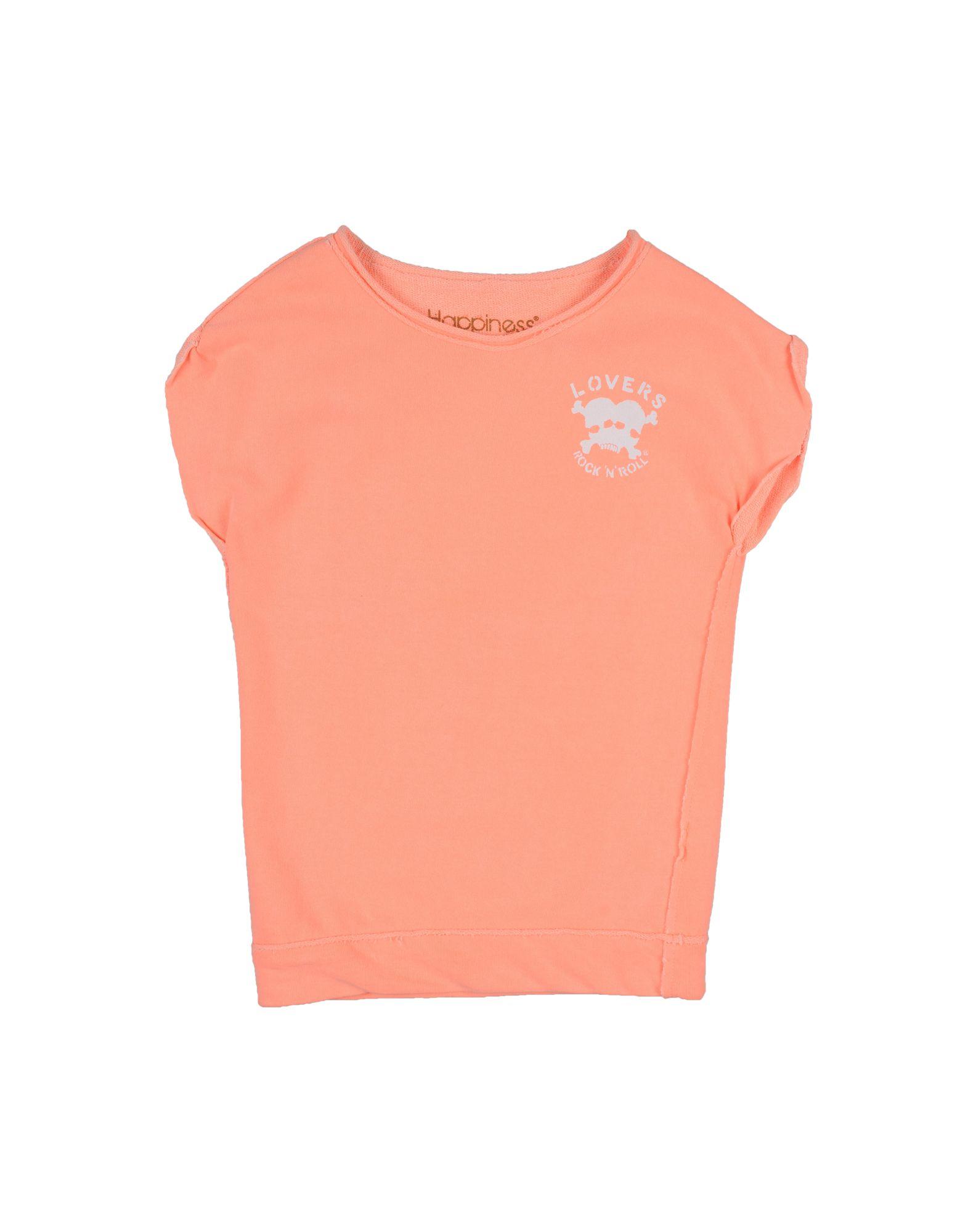 HAPPINESS Mädchen 3-8 jahre Sweatshirt3 orange