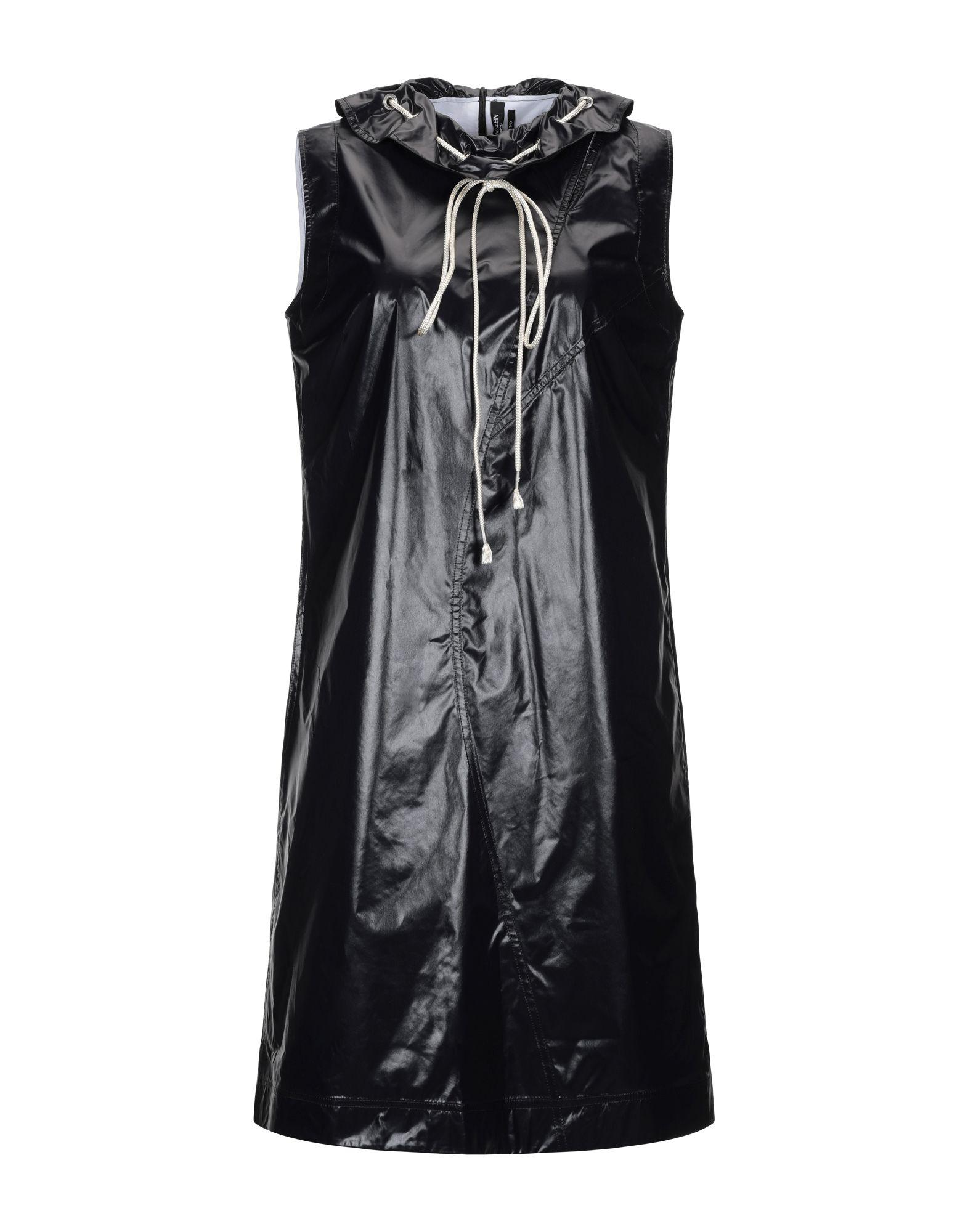 《送料無料》CALVIN KLEIN 205W39NYC レディース ひざ丈ワンピース ブラック 38 ナイロン 100%