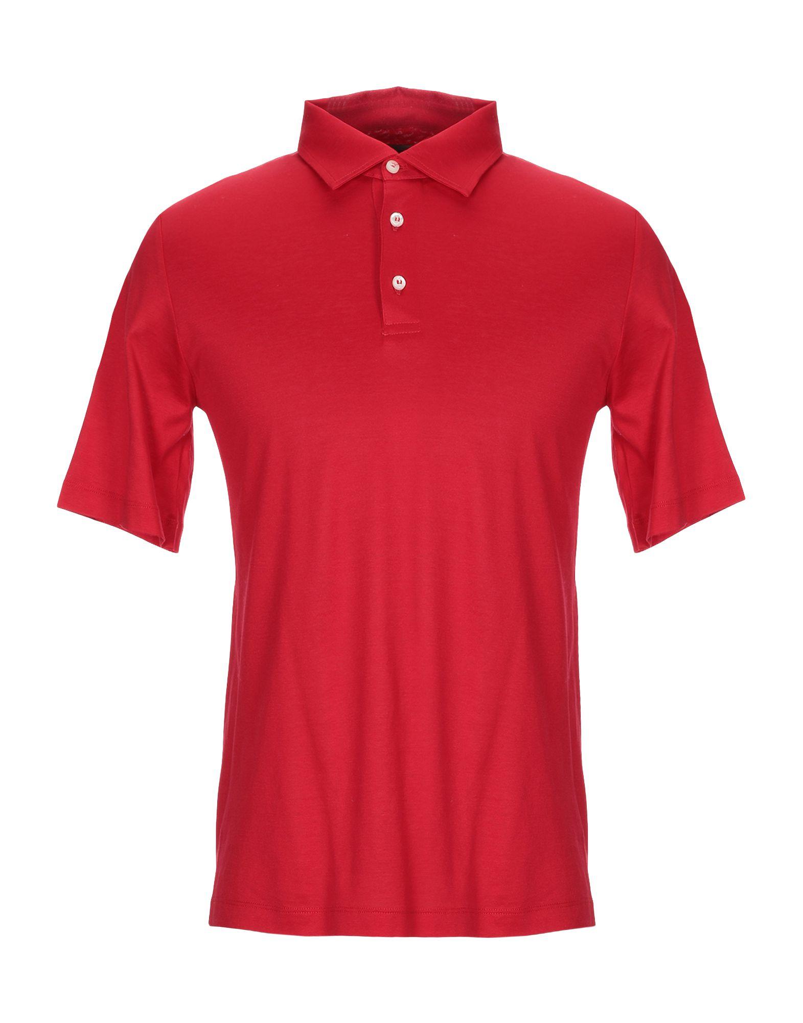 《送料無料》BALLANTYNE メンズ ポロシャツ レッド S コットン 100%