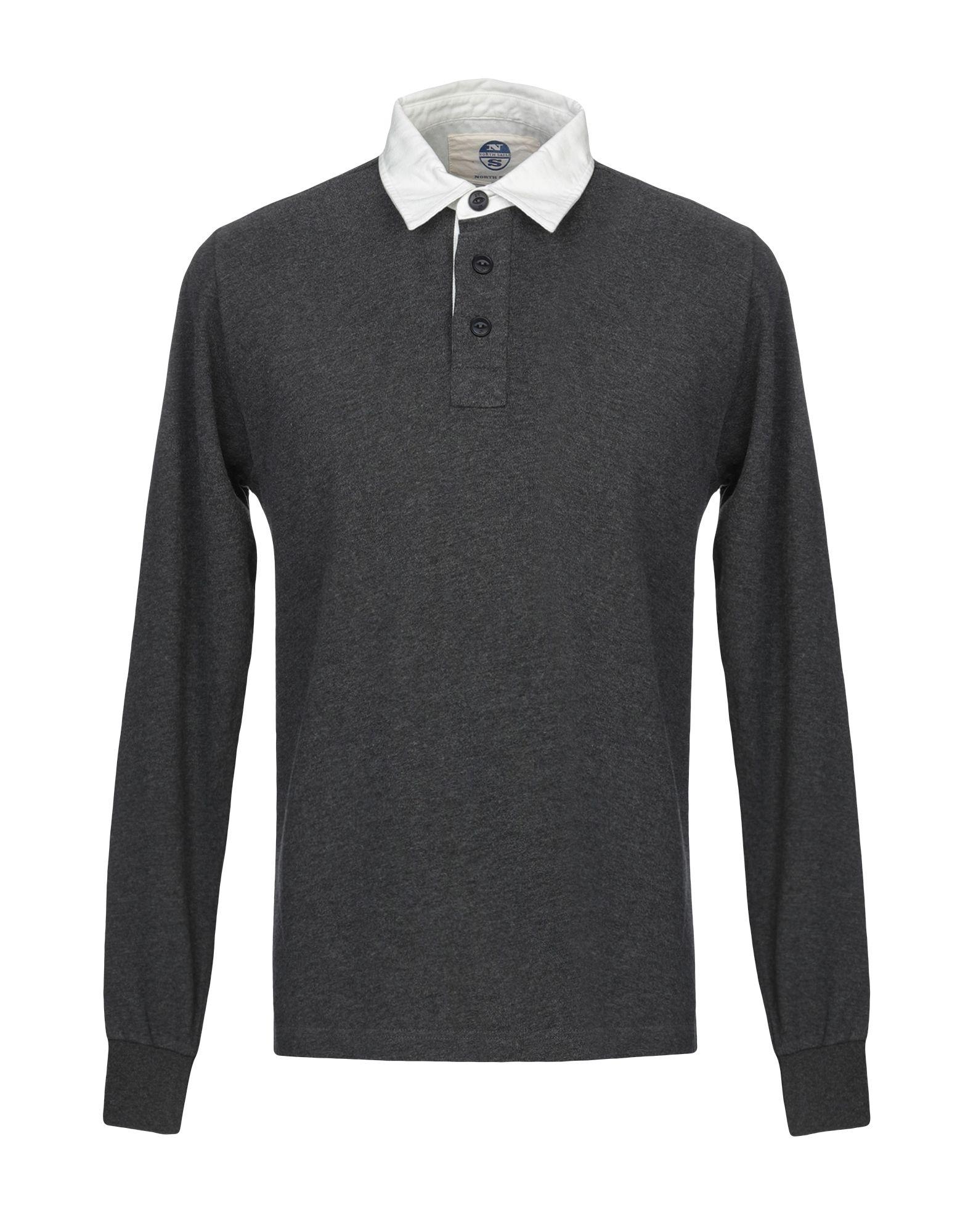 《送料無料》NORTH SAILS メンズ ポロシャツ 鉛色 M コットン 100%
