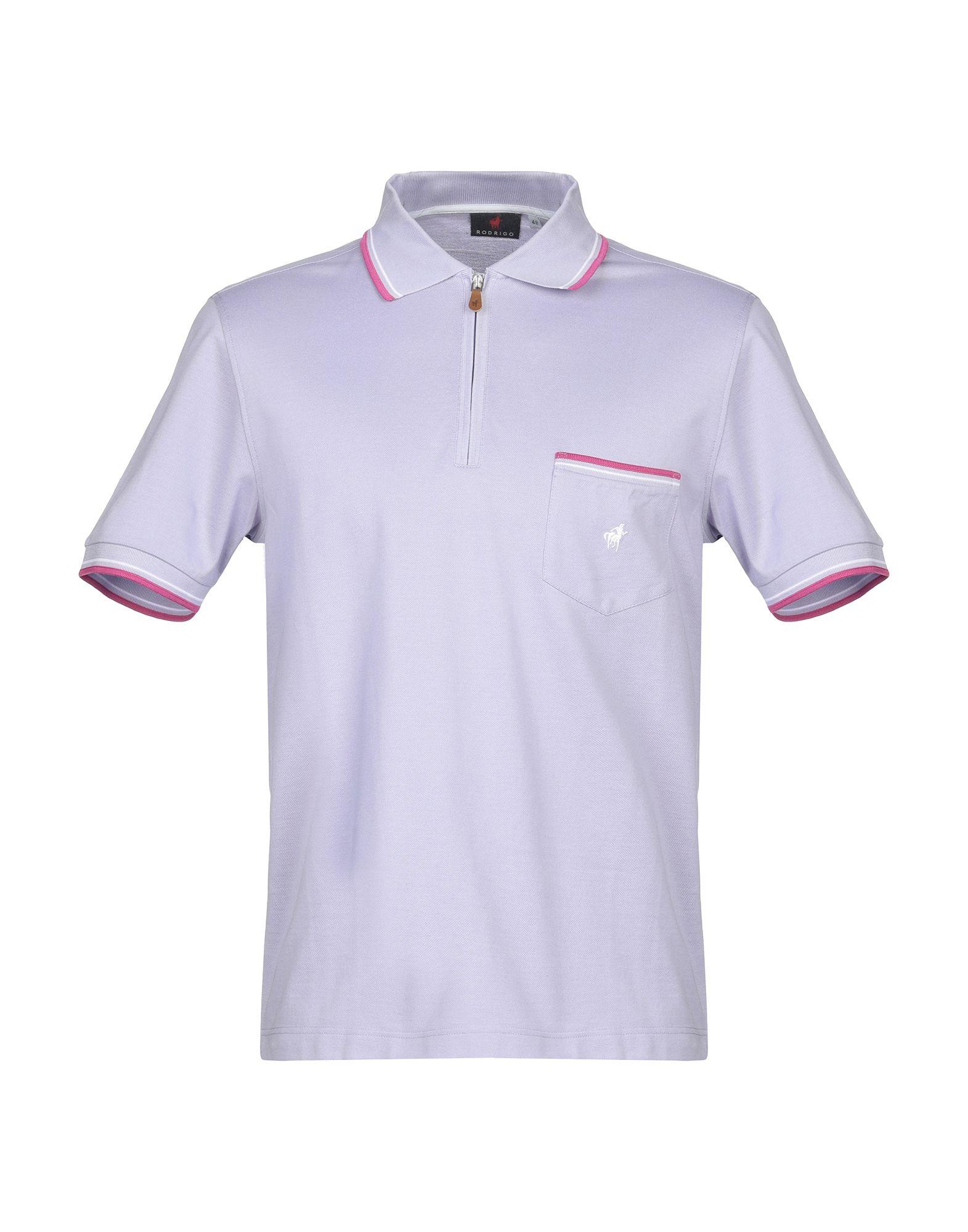 《送料無料》RODRIGO メンズ ポロシャツ ライラック 48 コットン 100%