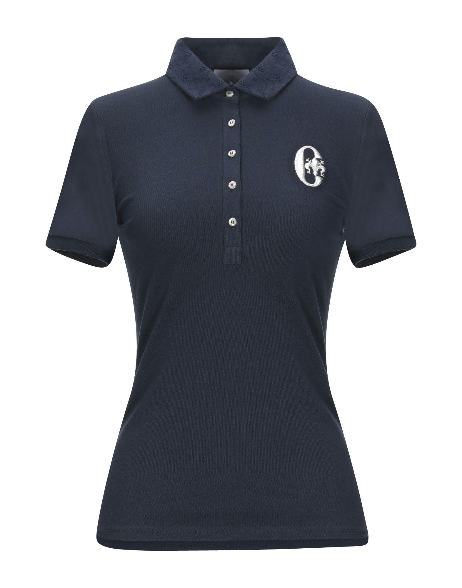 《期間限定セール中》CONTE OF FLORENCE レディース ポロシャツ ダークブルー XS コットン 97% / ポリウレタン 3%