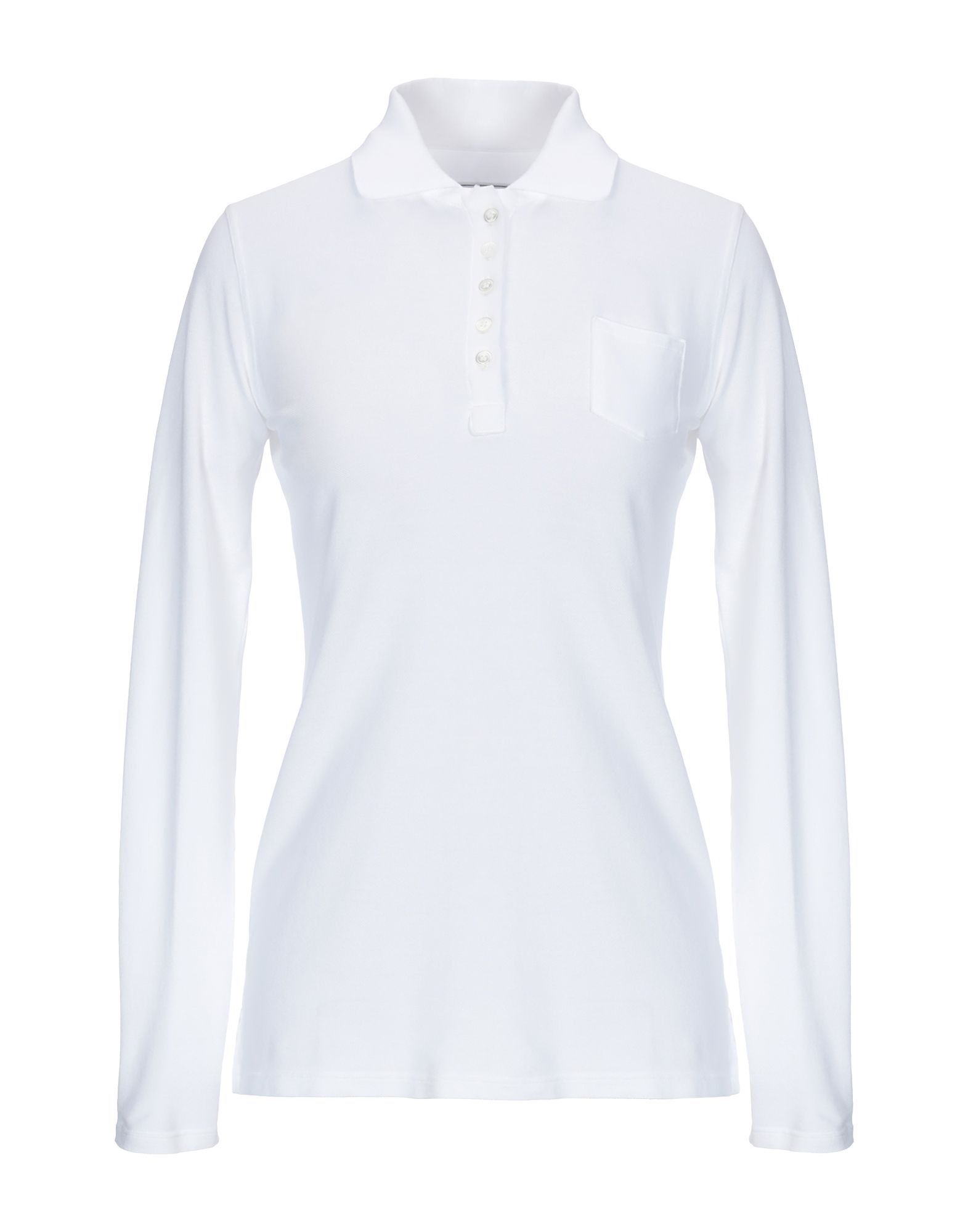《送料無料》FEDELI レディース ポロシャツ ホワイト 42 コットン 100%