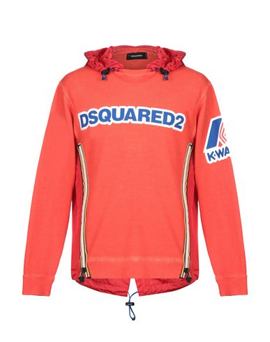 Фото - Мужскую толстовку DSQUARED2 x K-WAY оранжевого цвета