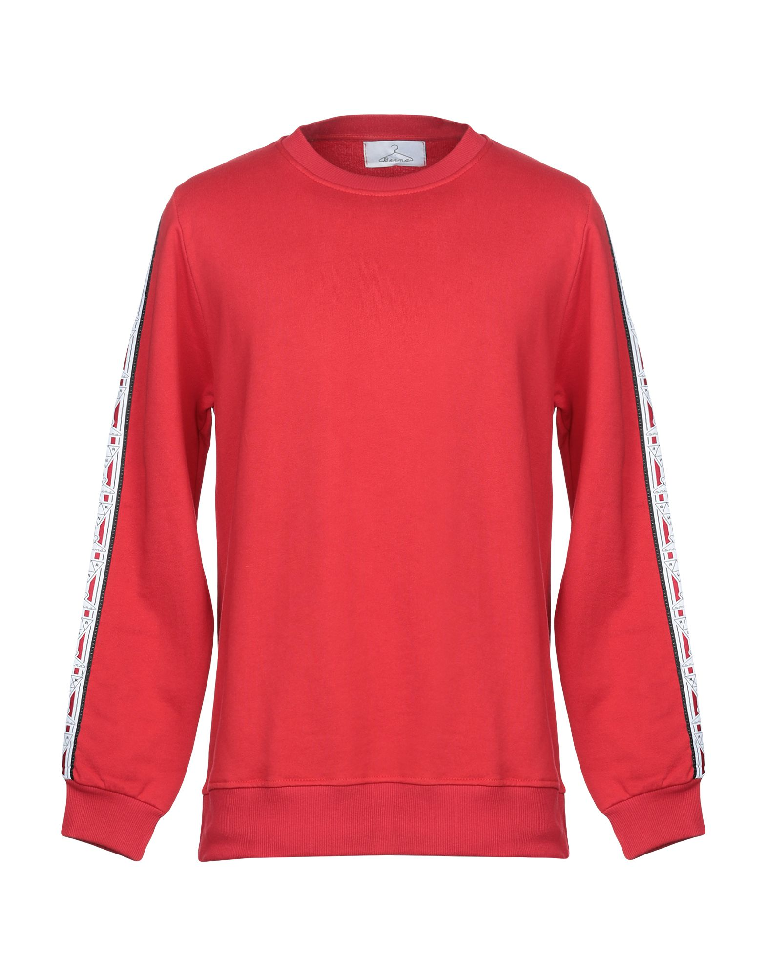 《セール開催中》BERNA メンズ スウェットシャツ レッド XL コットン 100%
