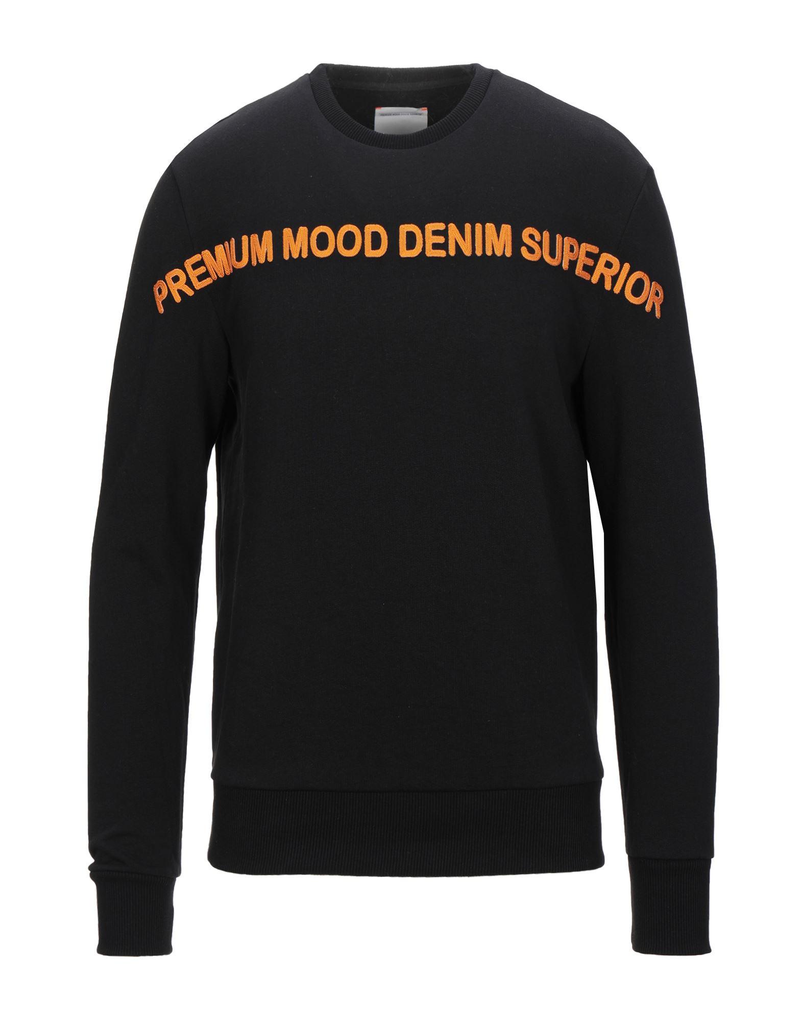 《セール開催中》PMDS PREMIUM MOOD DENIM SUPERIOR メンズ スウェットシャツ ブラック L コットン 100%