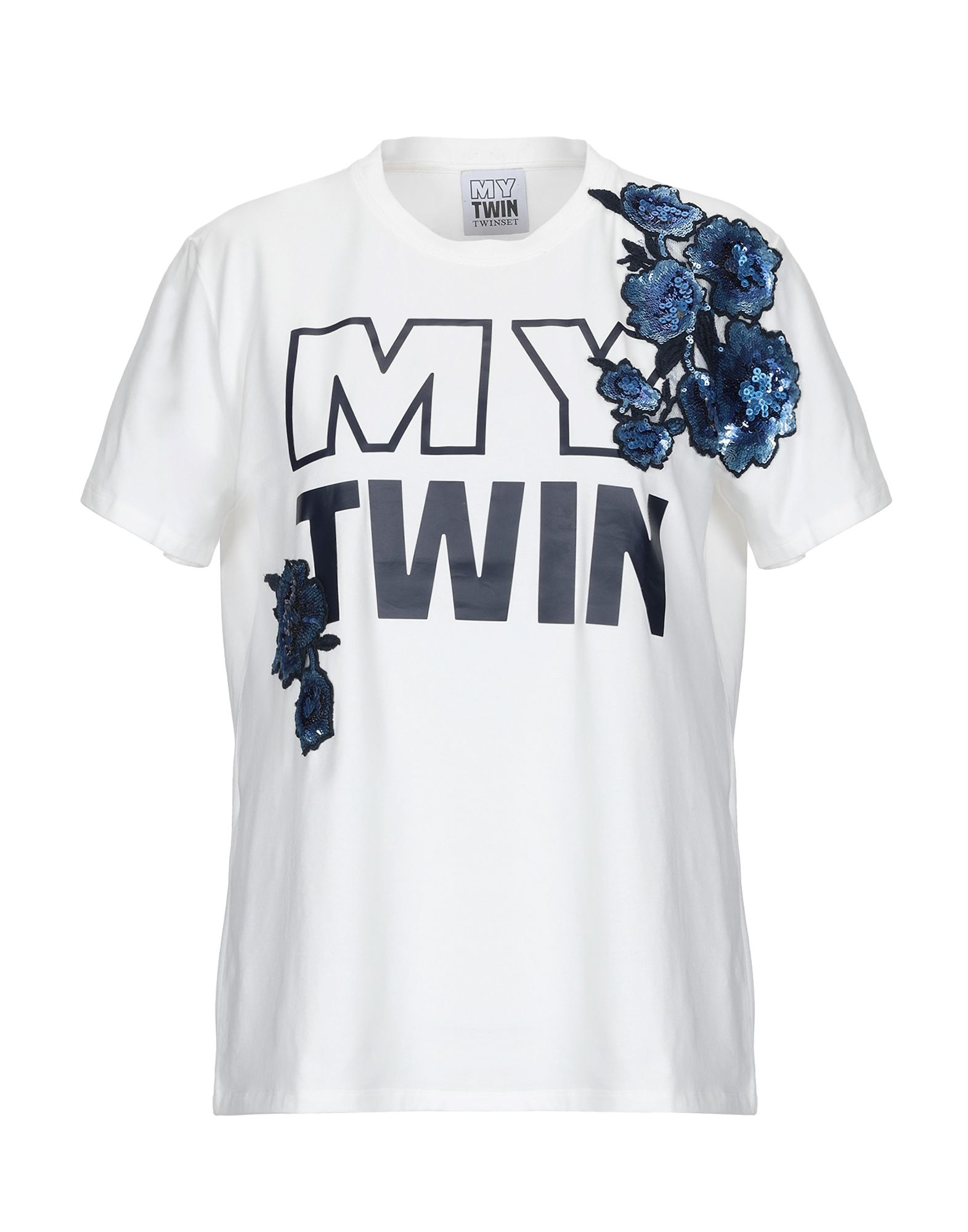 MY TWIN by TWIN SET Футболка twin set футболка с кружевом twin set j2a4fb 1014 кремовый m