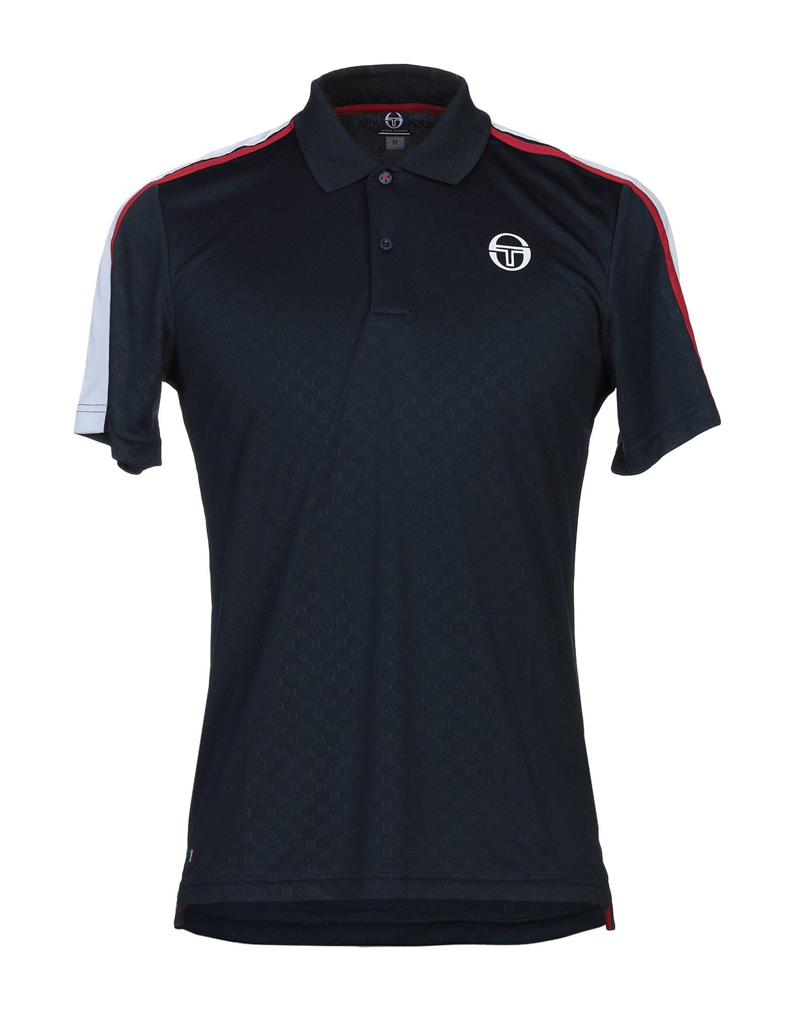 《セール開催中》SERGIO TACCHINI メンズ ポロシャツ ダークブルー M 100% ポリエステル