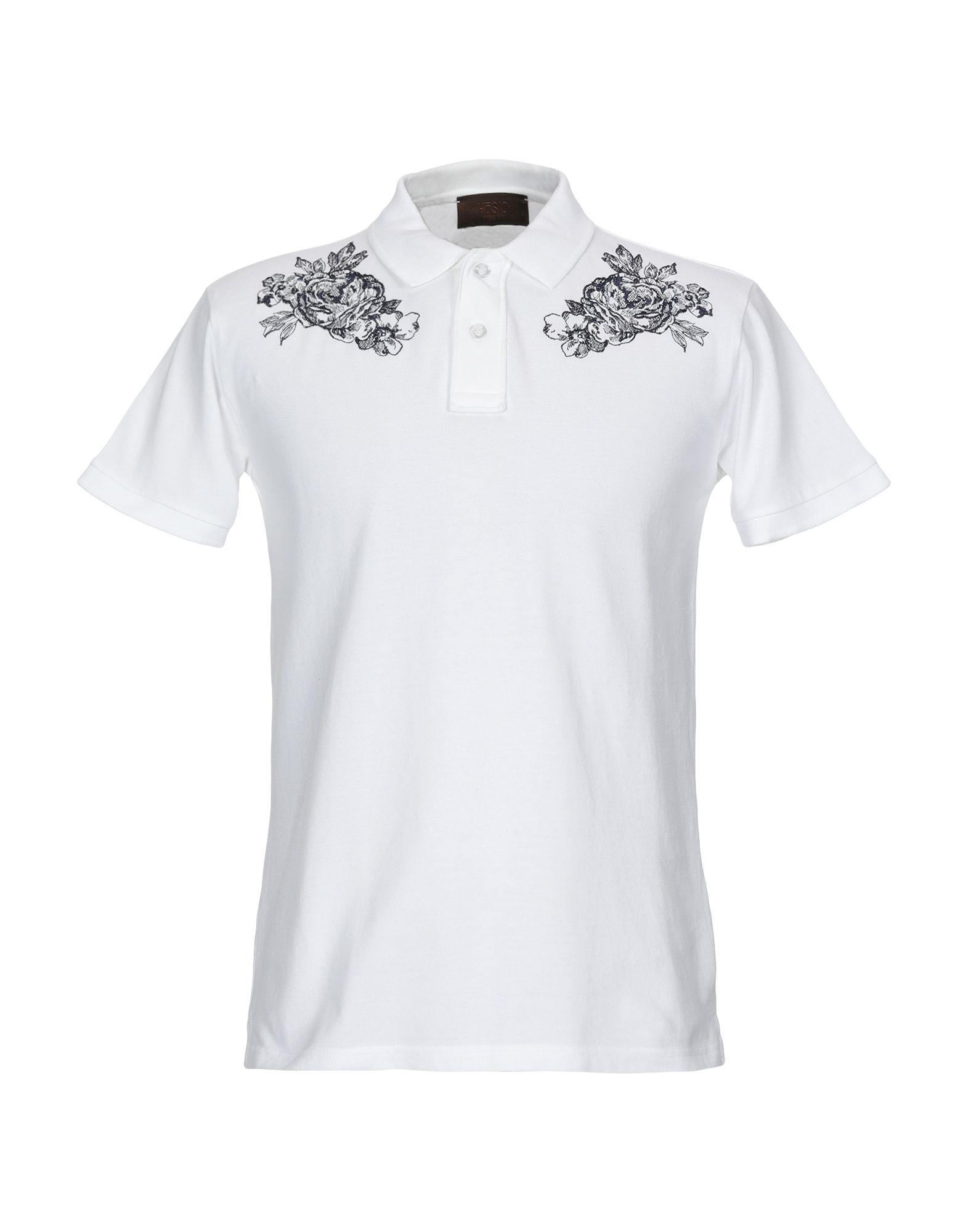 《セール開催中》H?SIO メンズ ポロシャツ ホワイト M コットン 100%