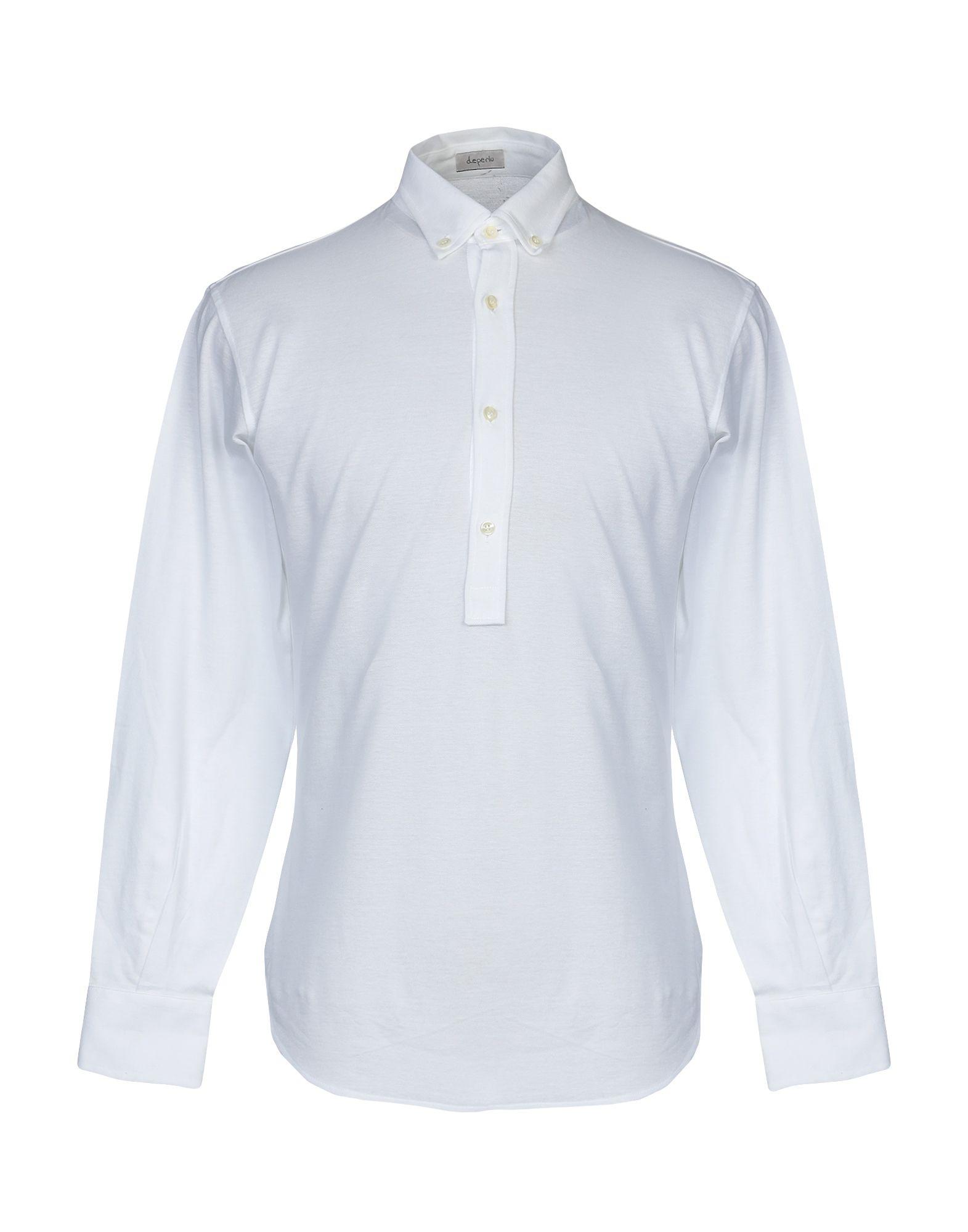 《送料無料》DEPERLU メンズ ポロシャツ ホワイト S コットン 100%