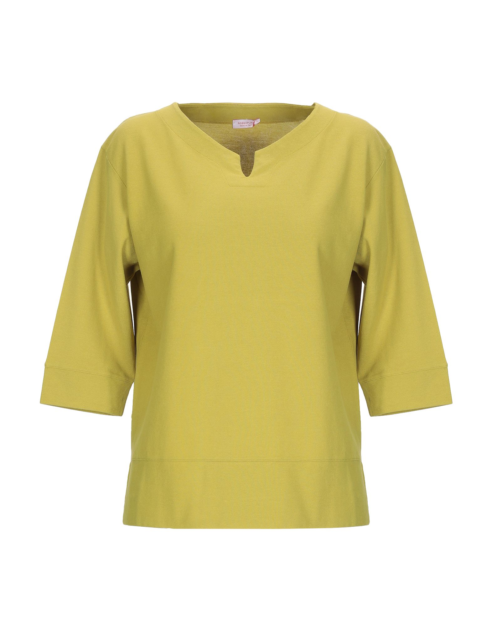 《送料無料》ROSSOPURO レディース スウェットシャツ ビタミングリーン XS コットン 100%