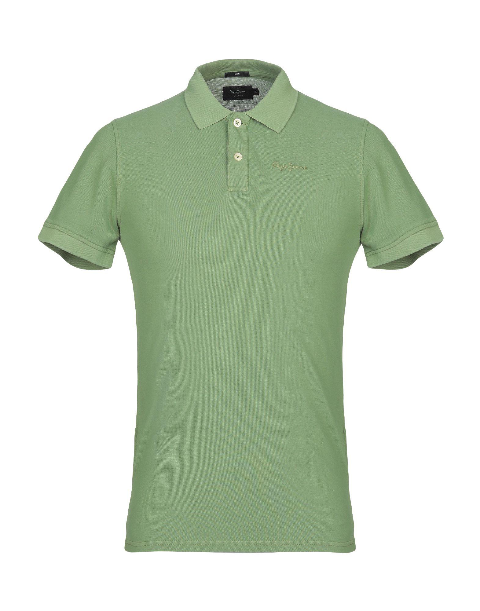 《送料無料》PEPE JEANS メンズ ポロシャツ ミリタリーグリーン XS コットン 100%