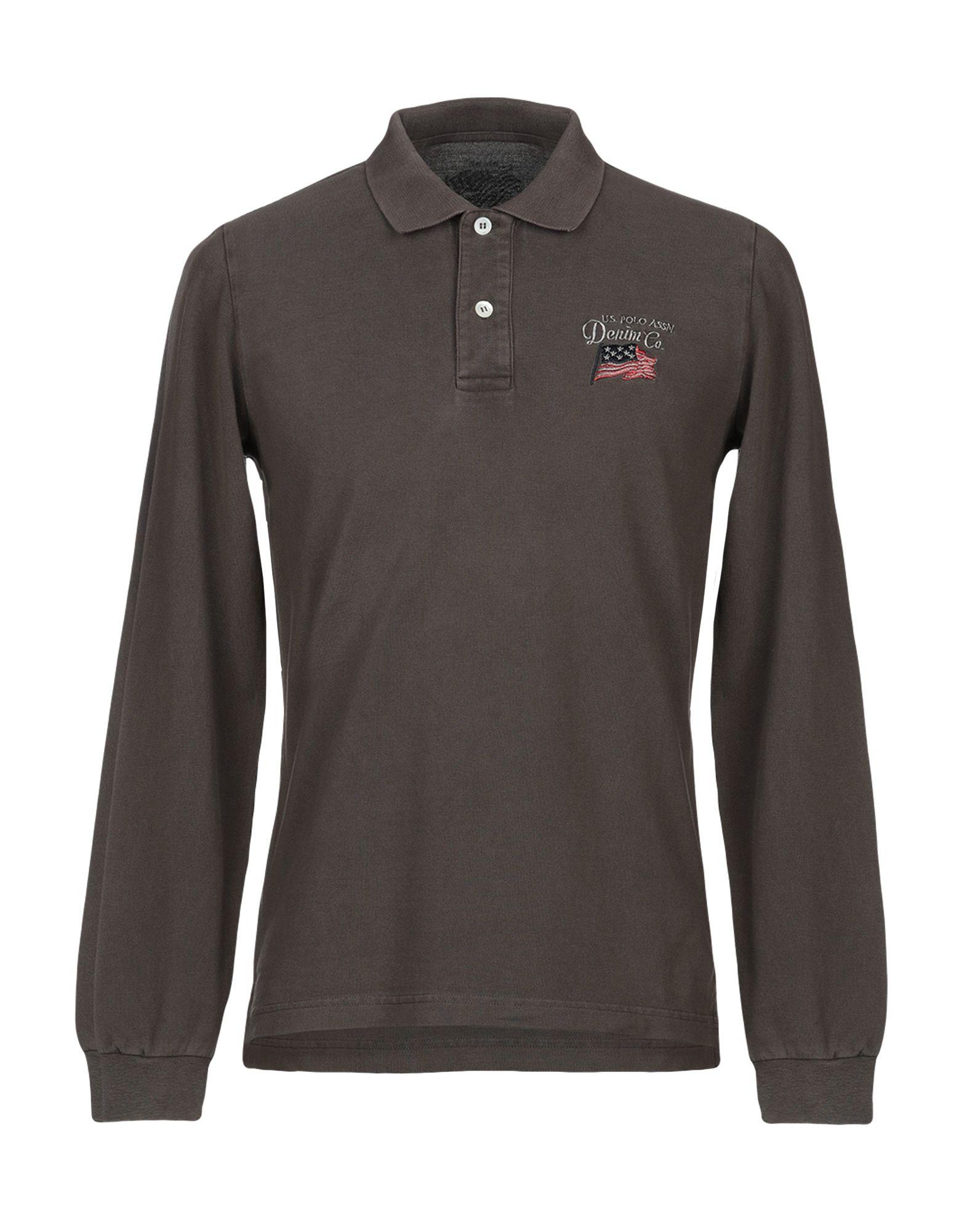 《送料無料》U.S.POLO ASSN. メンズ ポロシャツ カーキ M コットン 100%