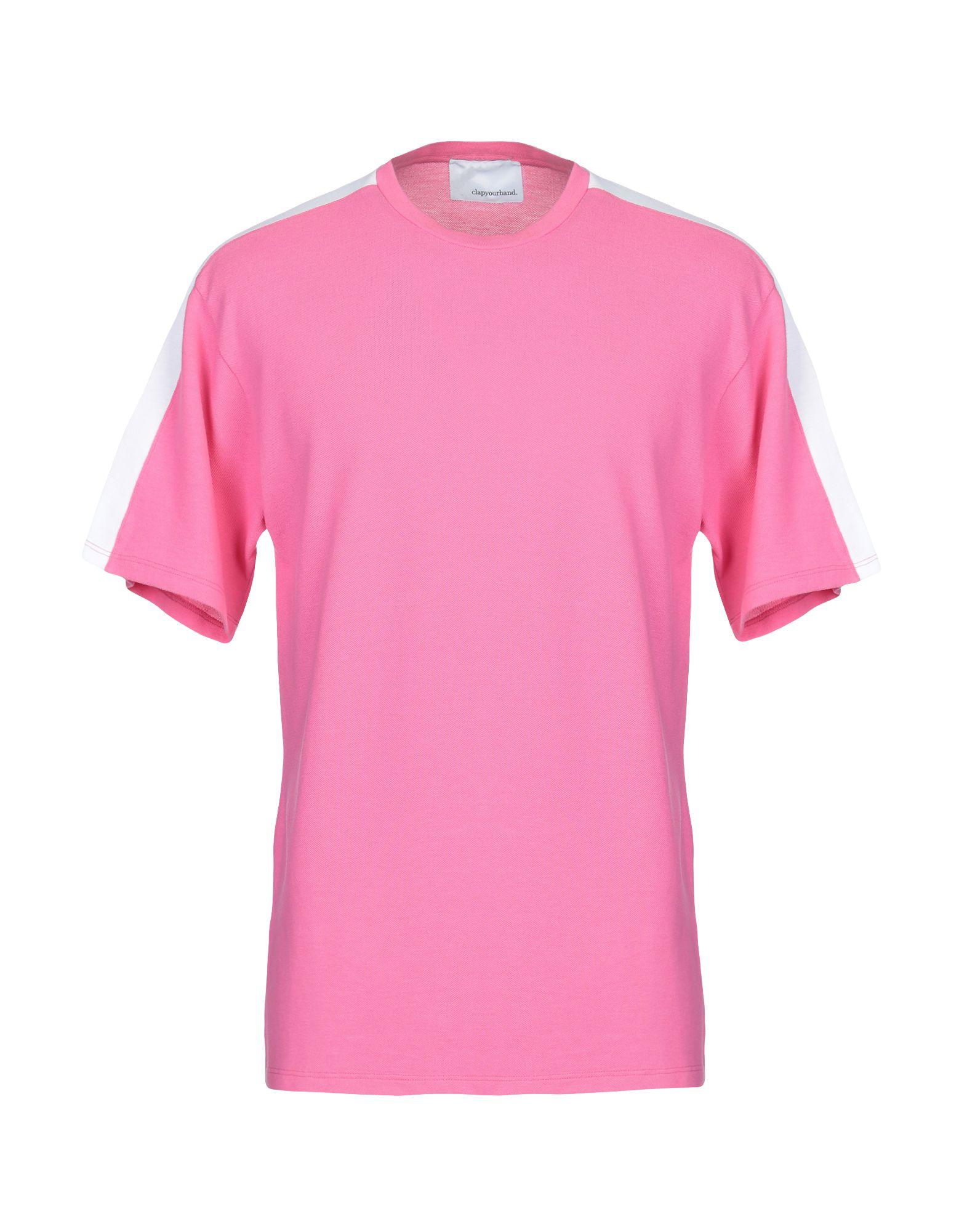 《送料無料》C.Y.H. CLAP YOUR HAND メンズ T シャツ フューシャ XL コットン 100%