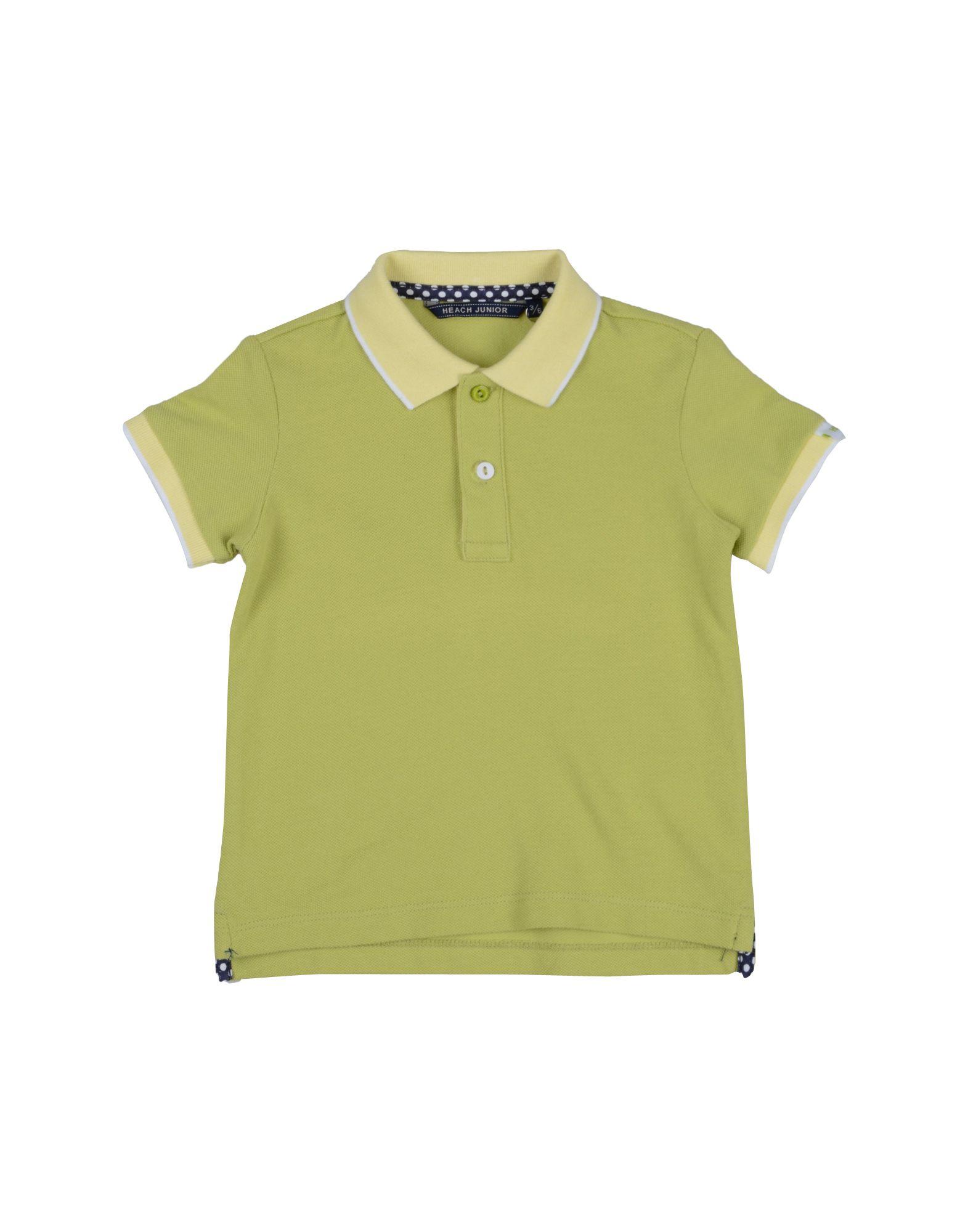 Heach Junior By Silvian Heach Kids' Polo Shirts In Green