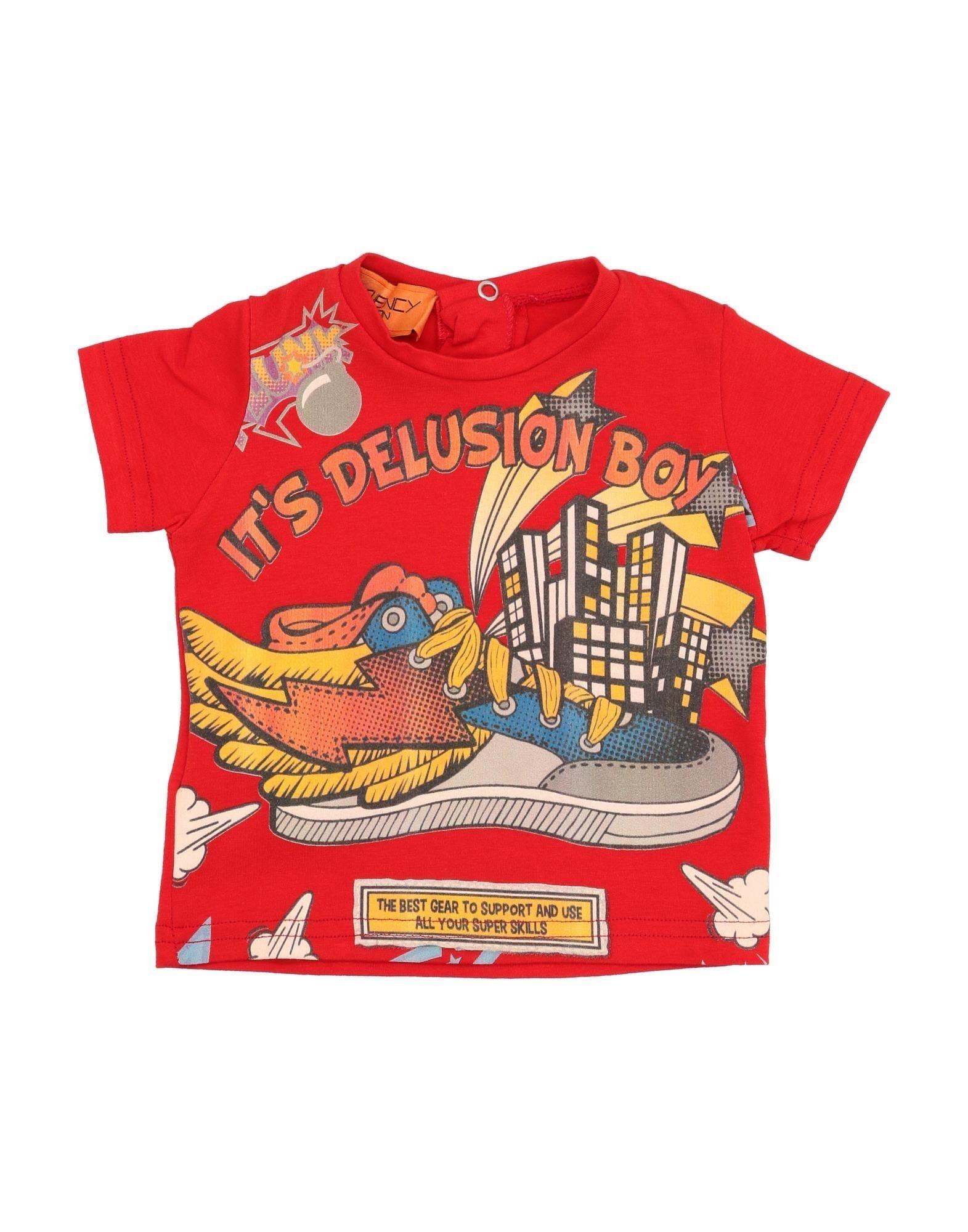 Freekuency Base London Kids' T-shirts In Red