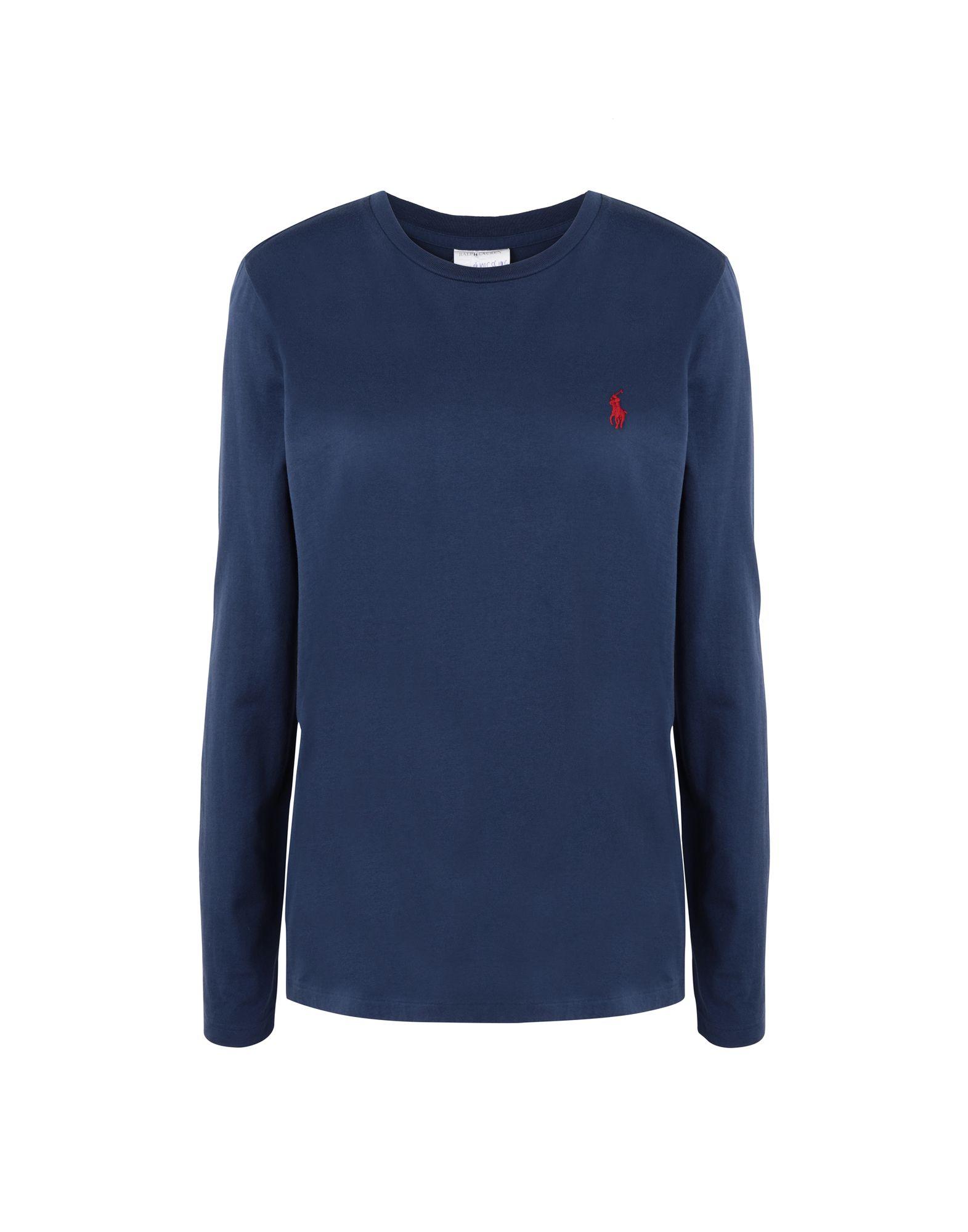 《送料無料》POLO RALPH LAUREN レディース T シャツ ダークブルー XS コットン 100% Cotton Long Sleeve T Shirt