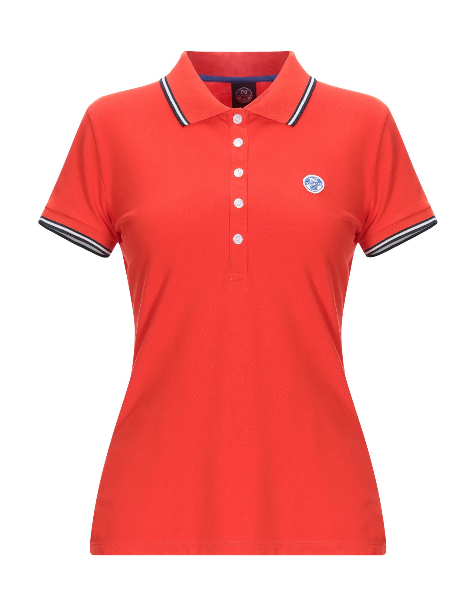 《送料無料》NORTH SAILS レディース ポロシャツ レッド XS コットン 100%