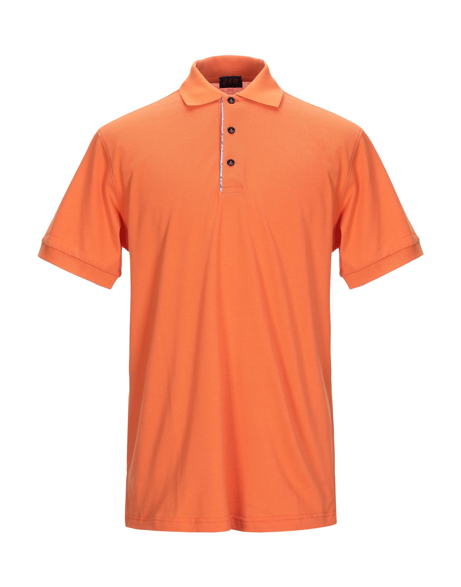 JSW® JEANS STORES WIDE Polo shirts. piqué, no appliqués, basic solid color, polo collar, short sleeves, front closure, button closing, no pockets. 100% Cotton