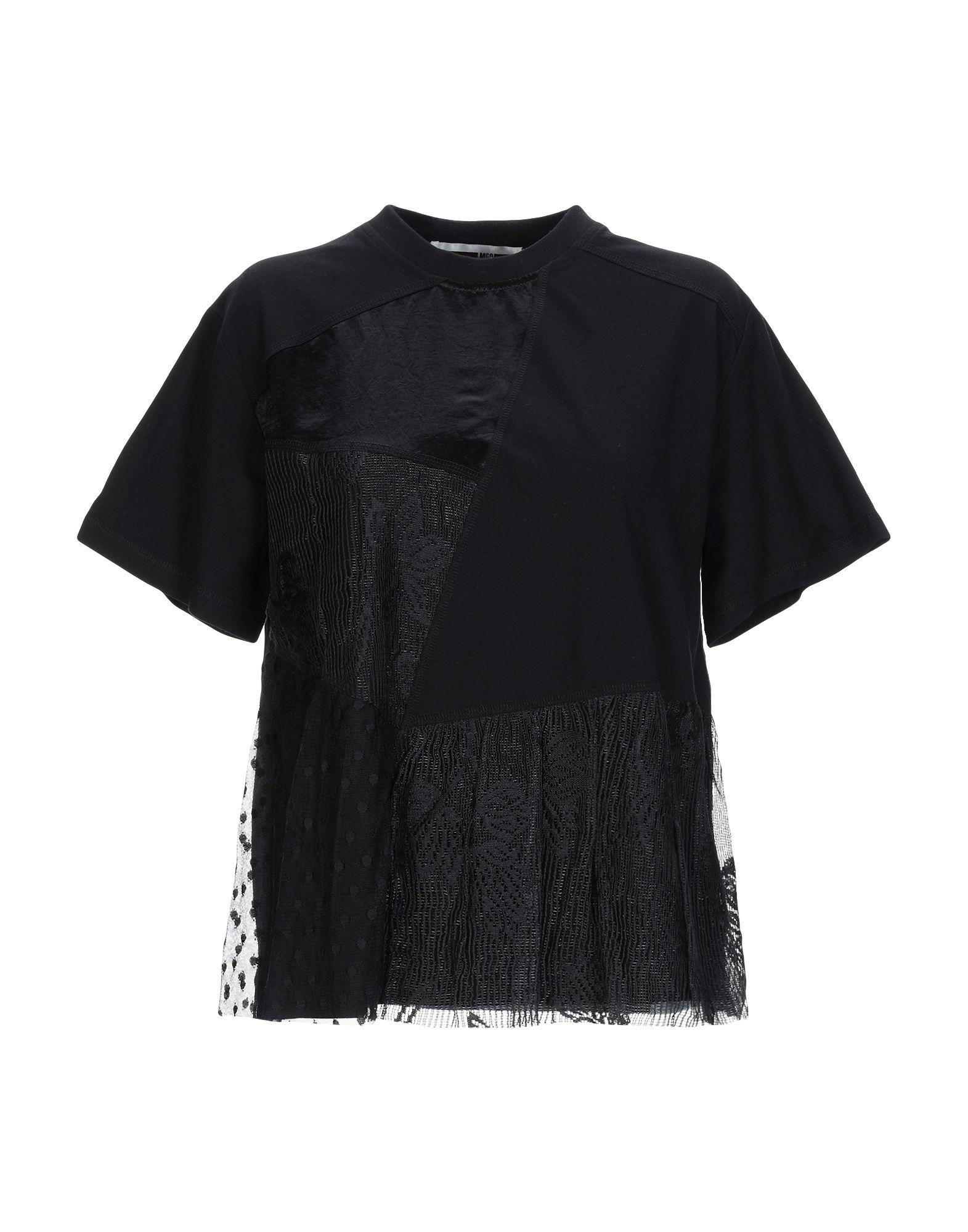 《送料無料》McQ Alexander McQueen レディース T シャツ ブラック XXS ナイロン 100% / ポリエステル / アセテート / コットン / ポリウレタン