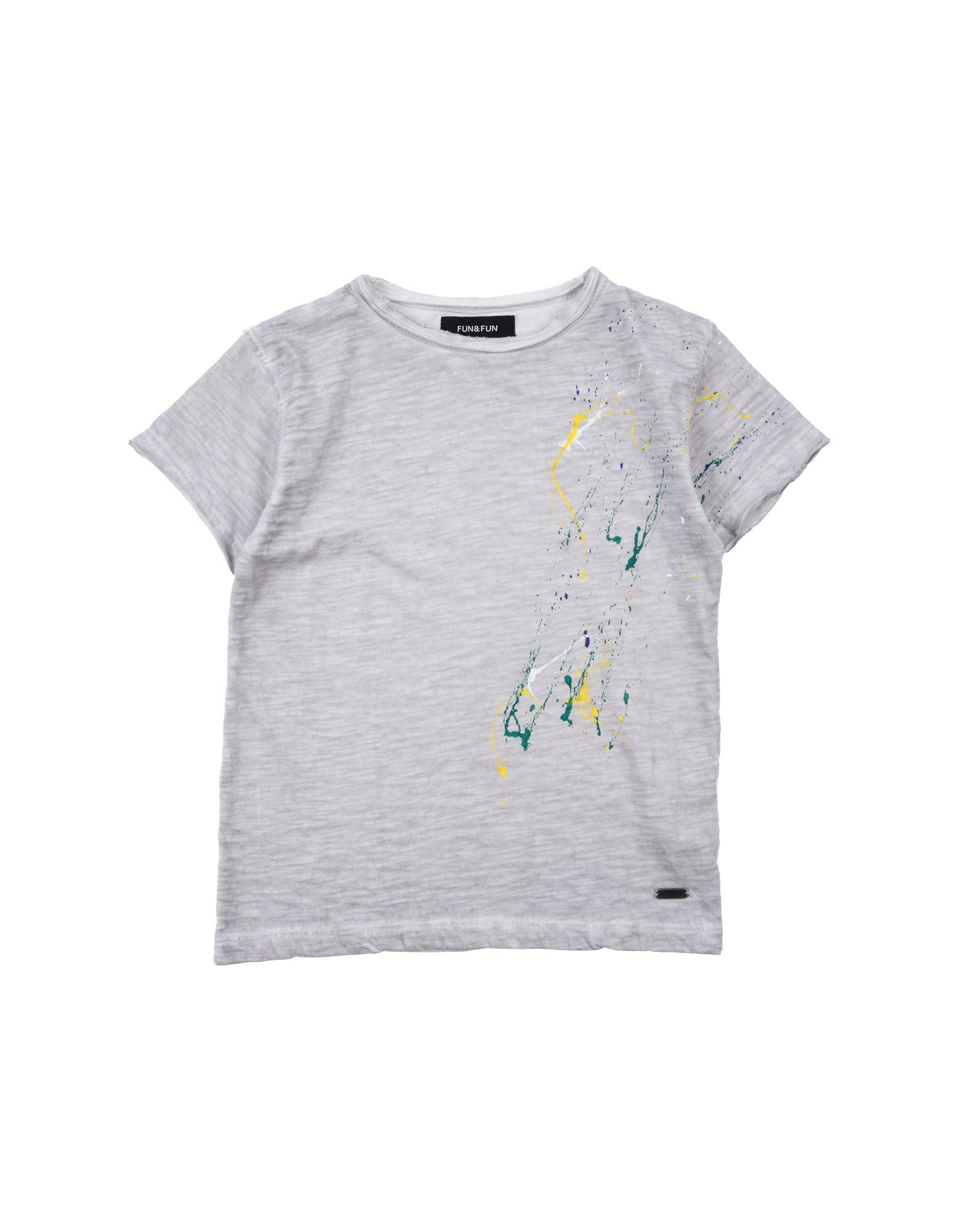 Fun & Fun Kids' T-shirts In Gray
