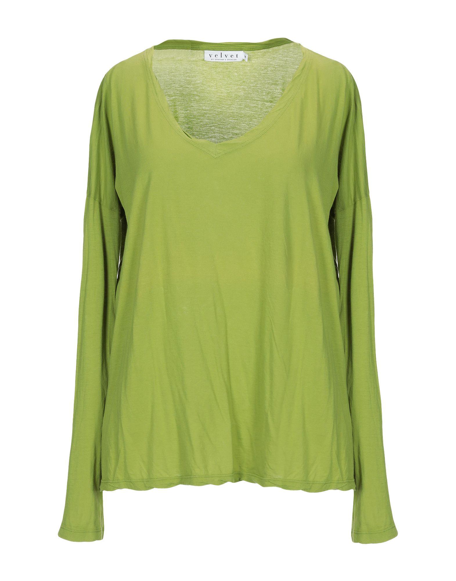 VELVET by GRAHAM & SPENCER Футболка v neck lace trim velvet blouse