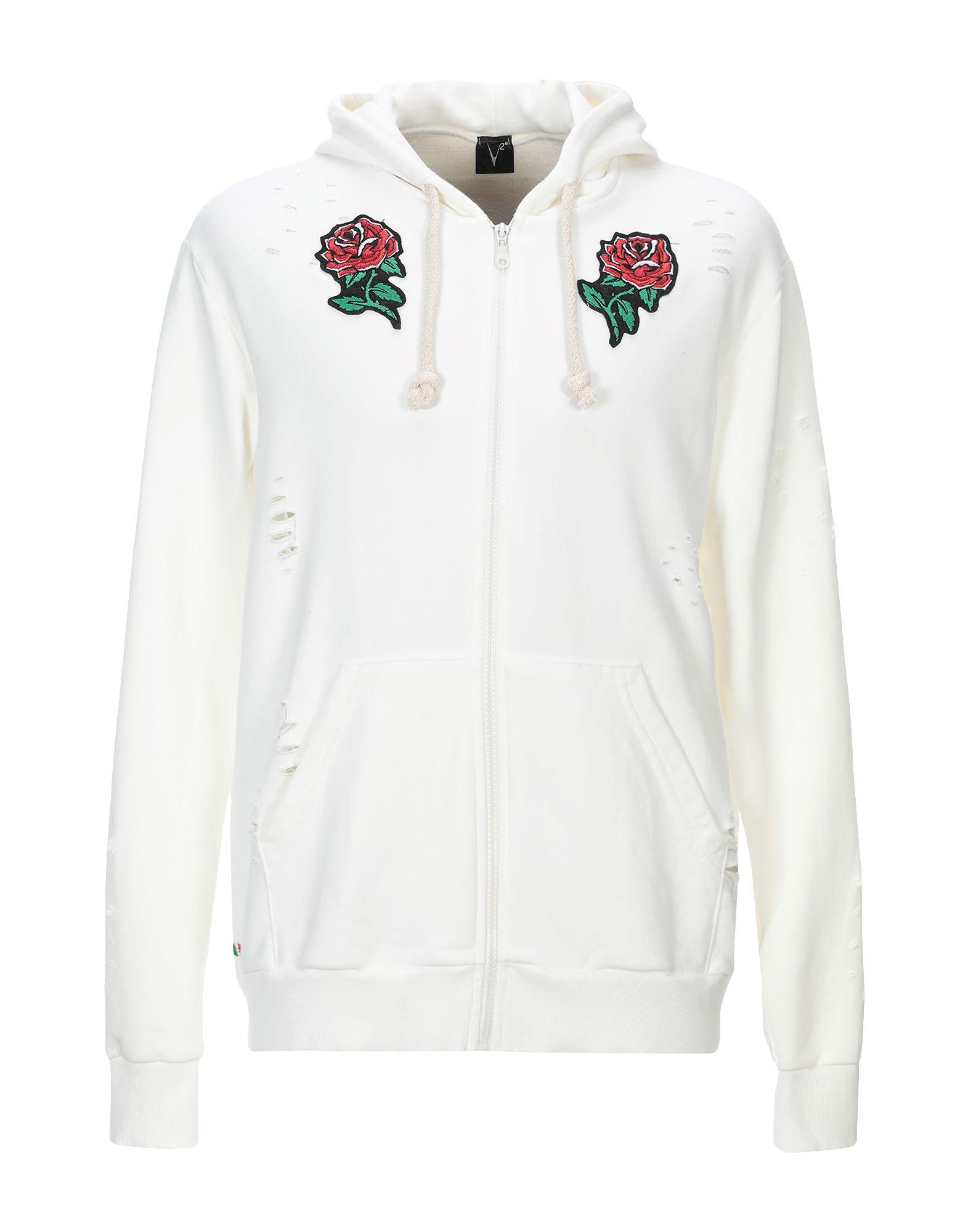 《セール開催中》V2? LIVING CLOTHING メンズ スウェットシャツ ホワイト S コットン 100%