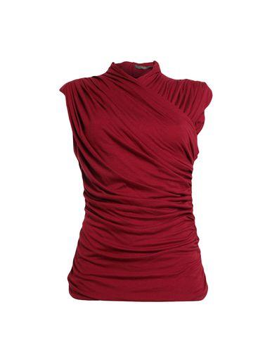 Купить Топ без рукавов красно-коричневого цвета