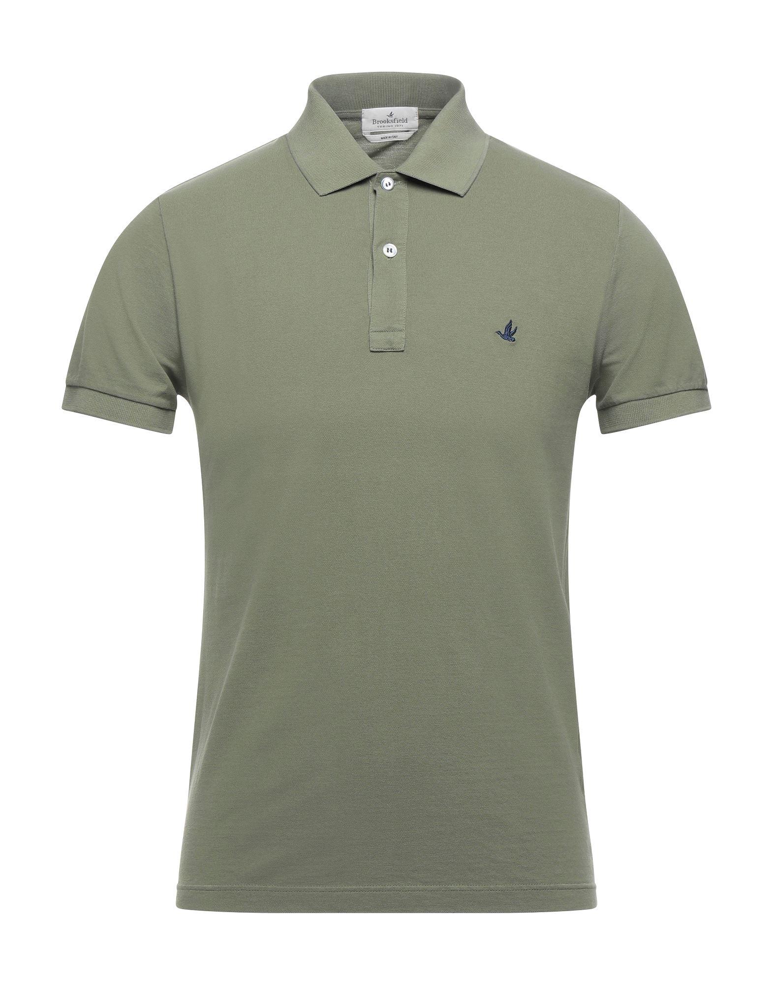 《セール開催中》BROOKSFIELD メンズ ポロシャツ ミリタリーグリーン 46 コットン 100%