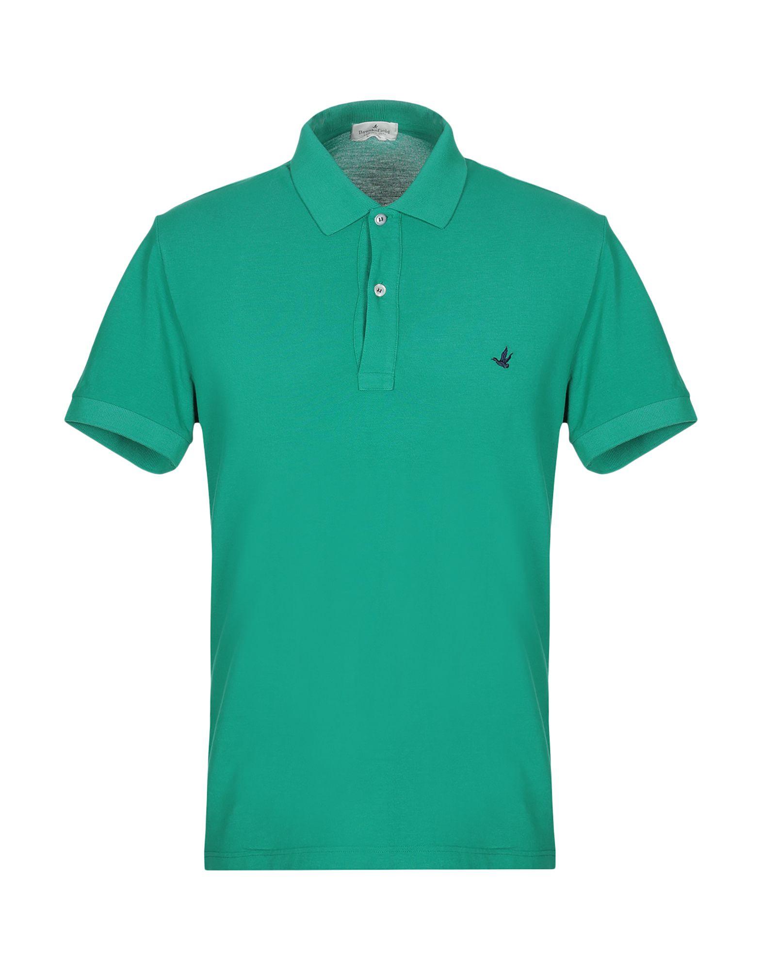 《セール開催中》BROOKSFIELD メンズ ポロシャツ グリーン 46 コットン 100%