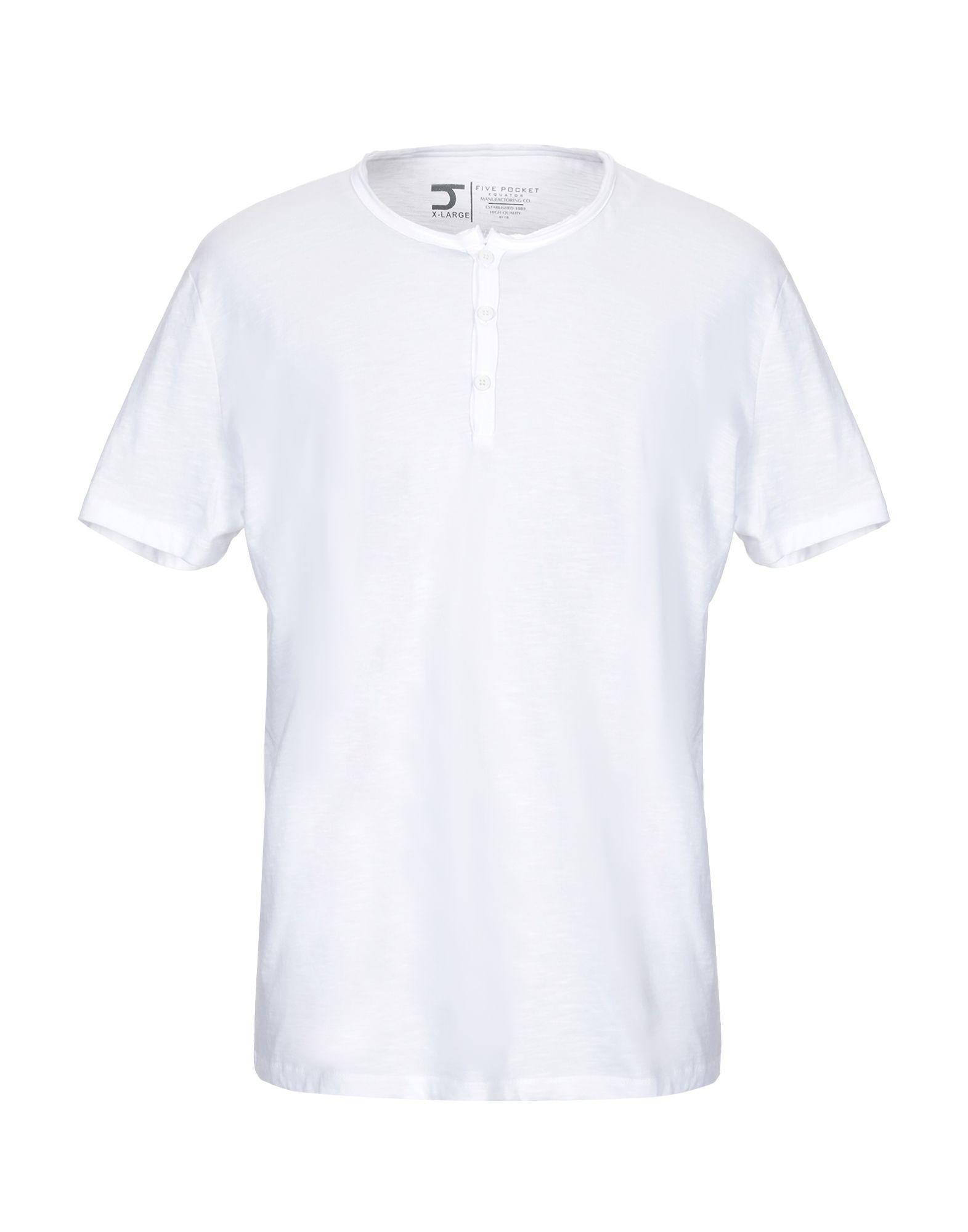 《送料無料》FIVE POCKET メンズ T シャツ ホワイト XL コットン 100%