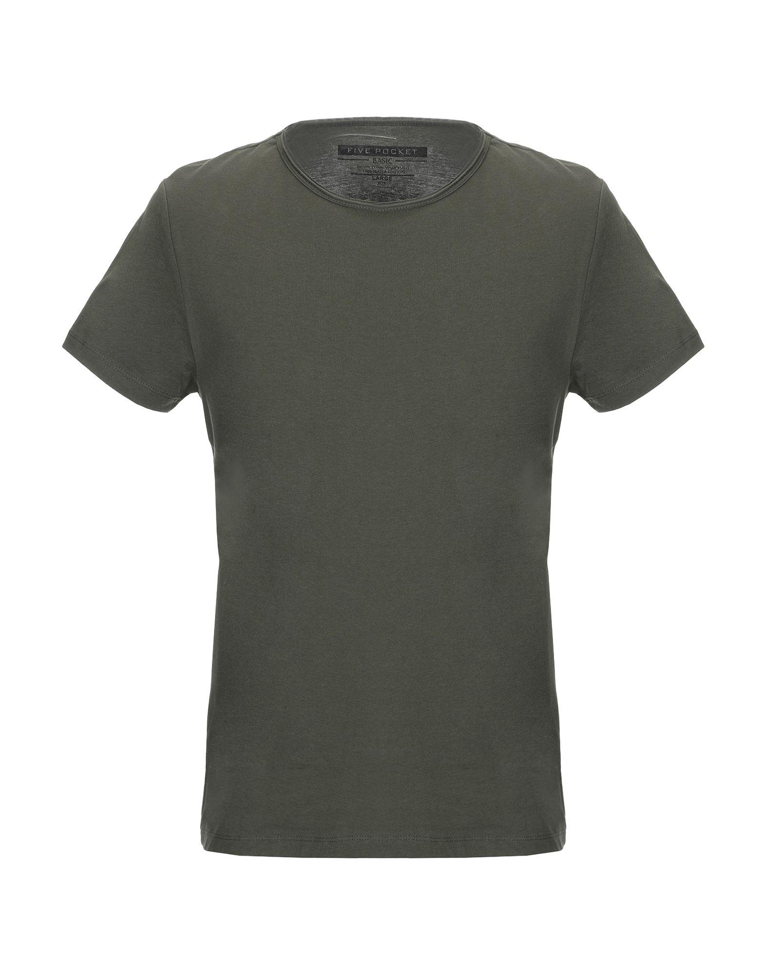 《送料無料》FIVE POCKET メンズ T シャツ ミリタリーグリーン S コットン 100%