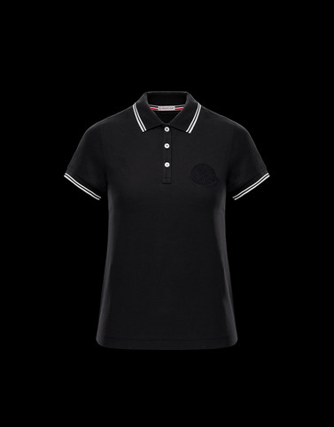 POLO Black T-shirts & Tops Woman