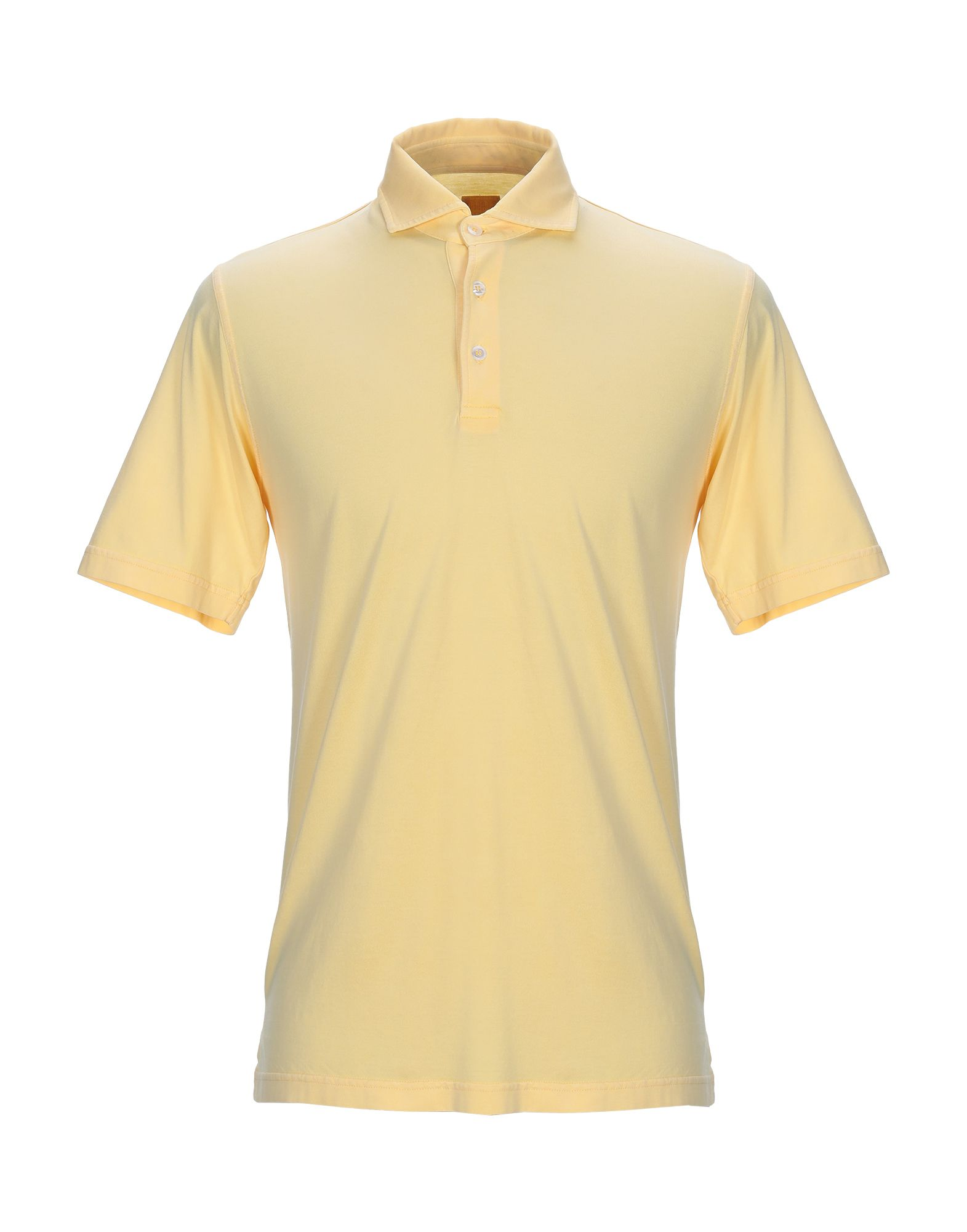 《送料無料》FEDELI メンズ ポロシャツ イエロー 48 コットン 100%