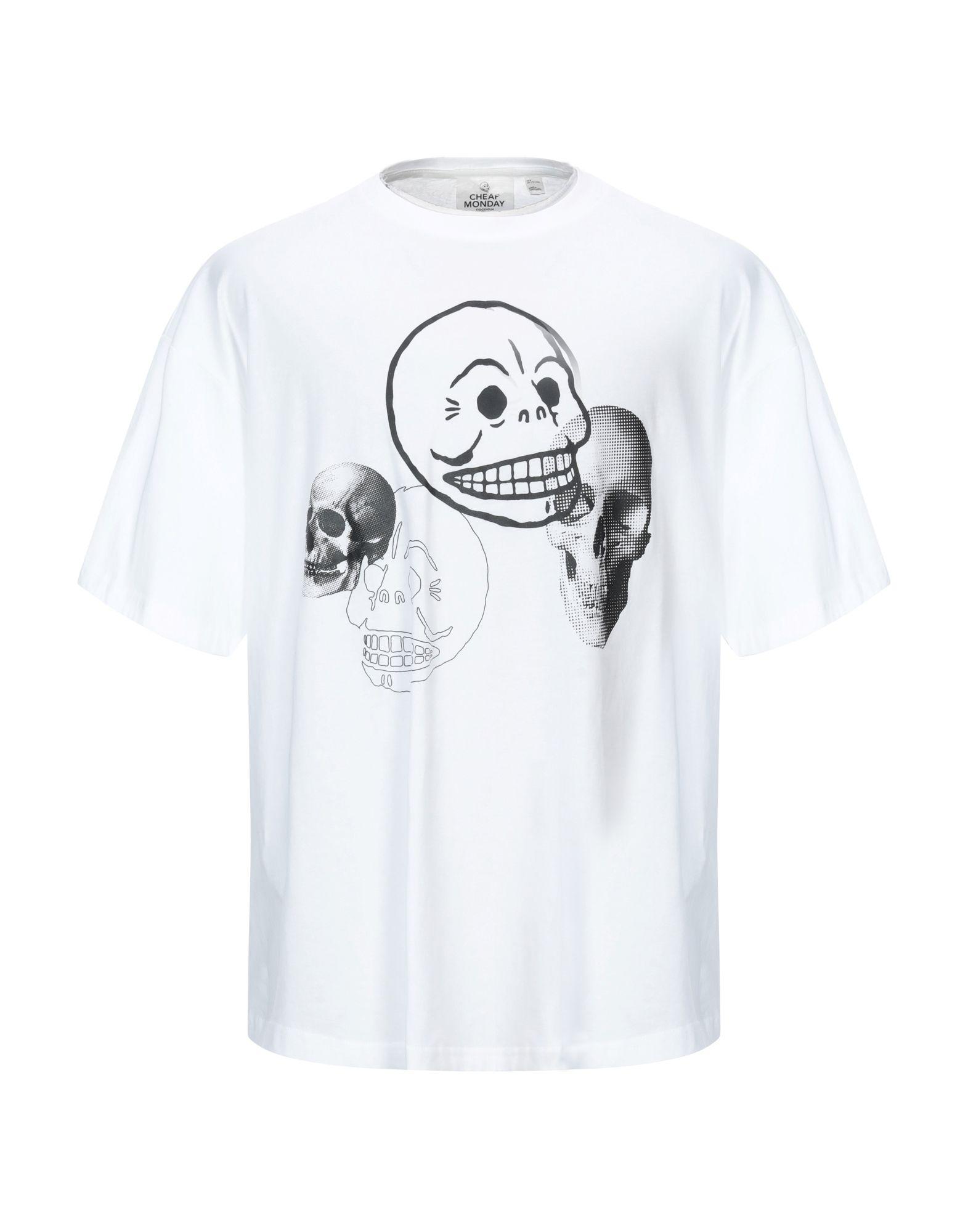 Cheap Monday T Shirts In White Modesens