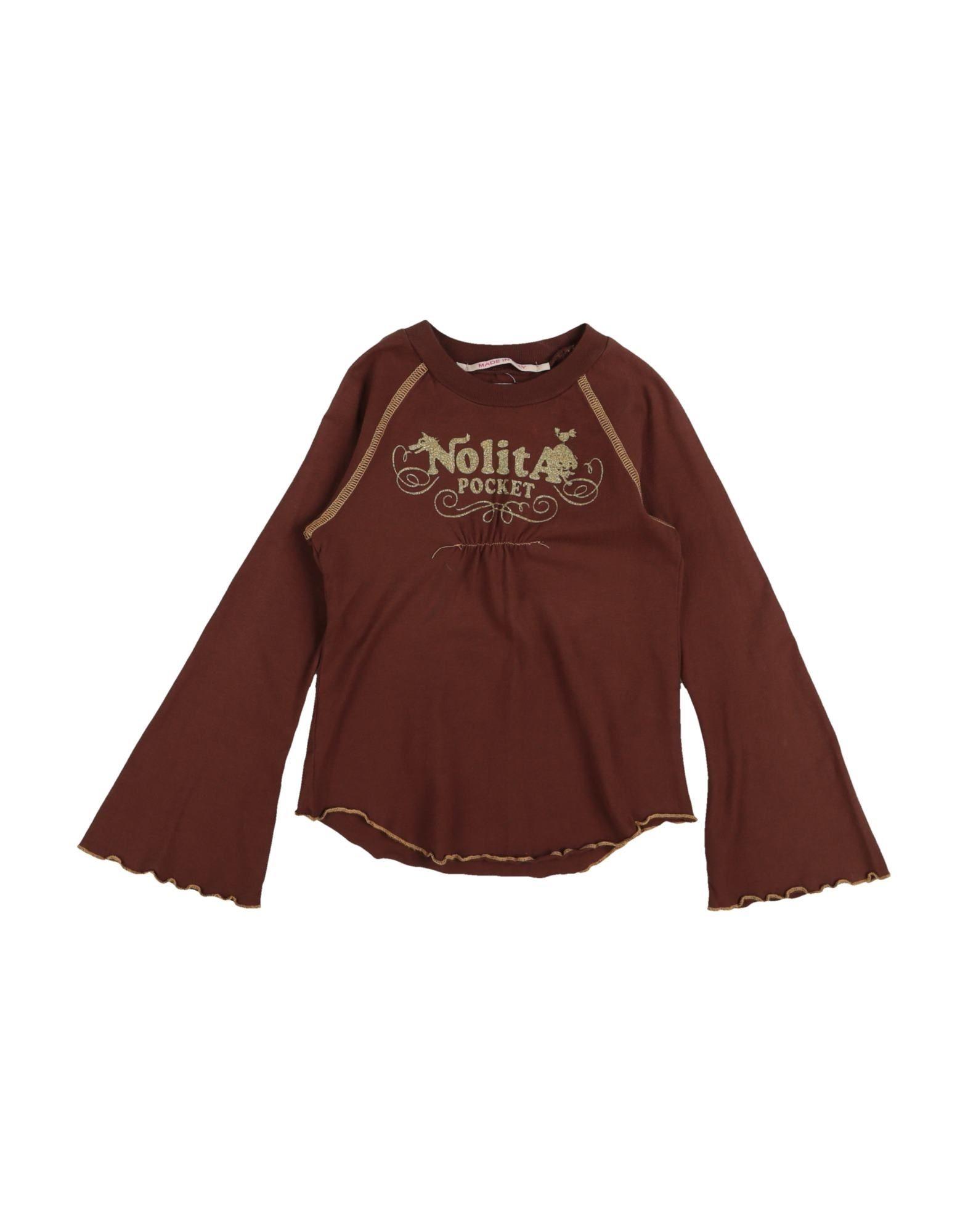 Nolita Pocket Kids' T-shirts In Brown