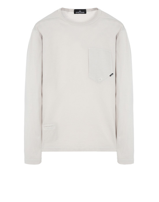 STONE ISLAND SHADOW PROJECT Футболка с длинными рукавами 20411 LS CATCH POCKET-T (MERCERISED PIQUÉ)