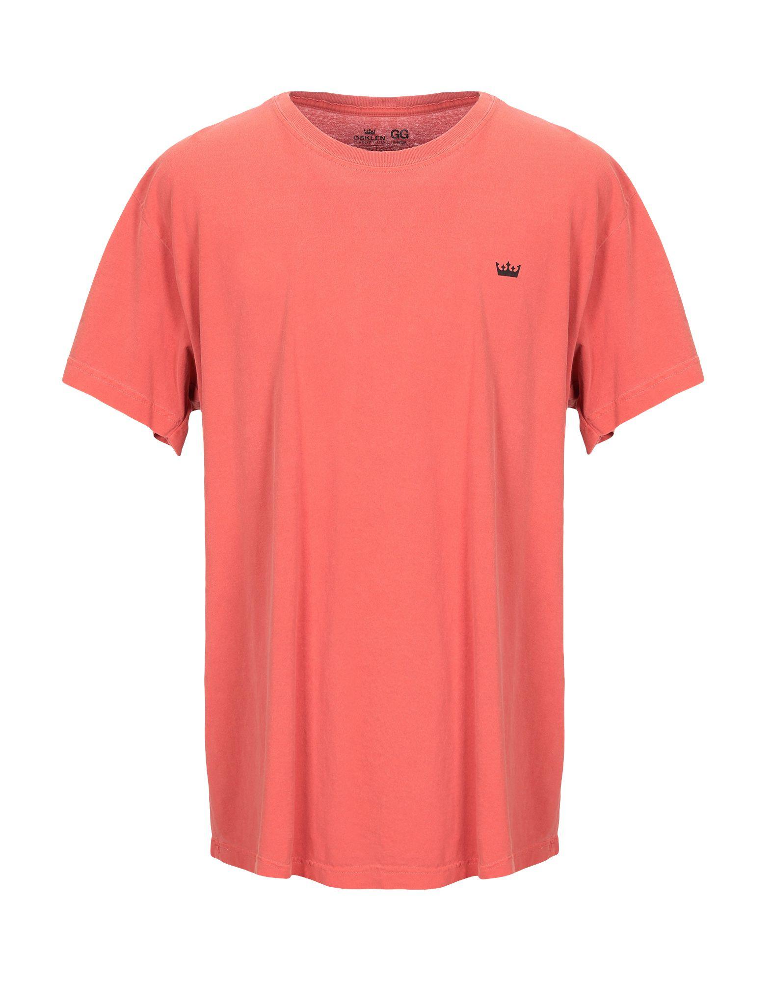 《送料無料》OSKLEN メンズ T シャツ 赤茶色 XL コットン 100%