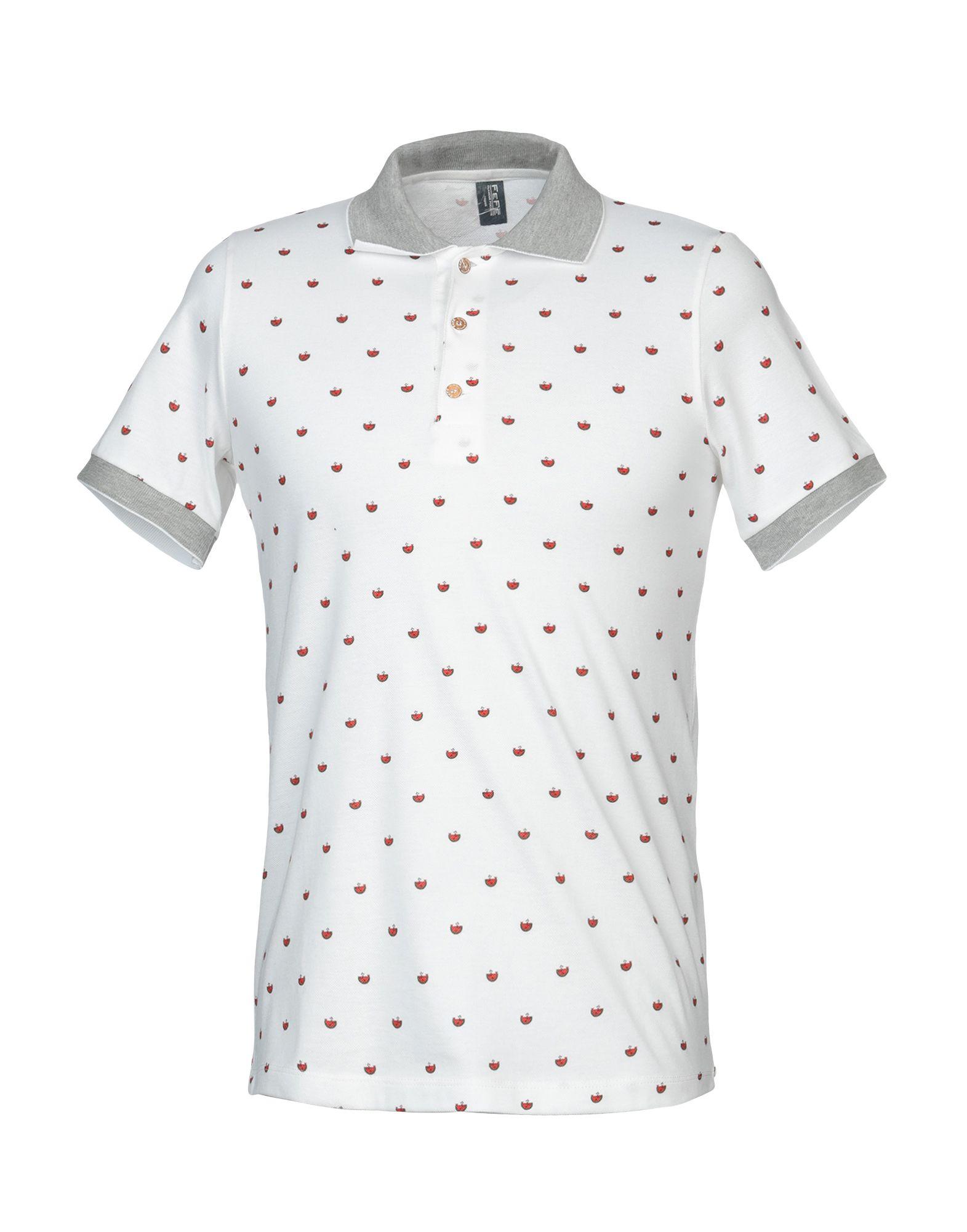 《送料無料》FEF? GLAMOUR POCHETTE メンズ ポロシャツ ホワイト S コットン 100%