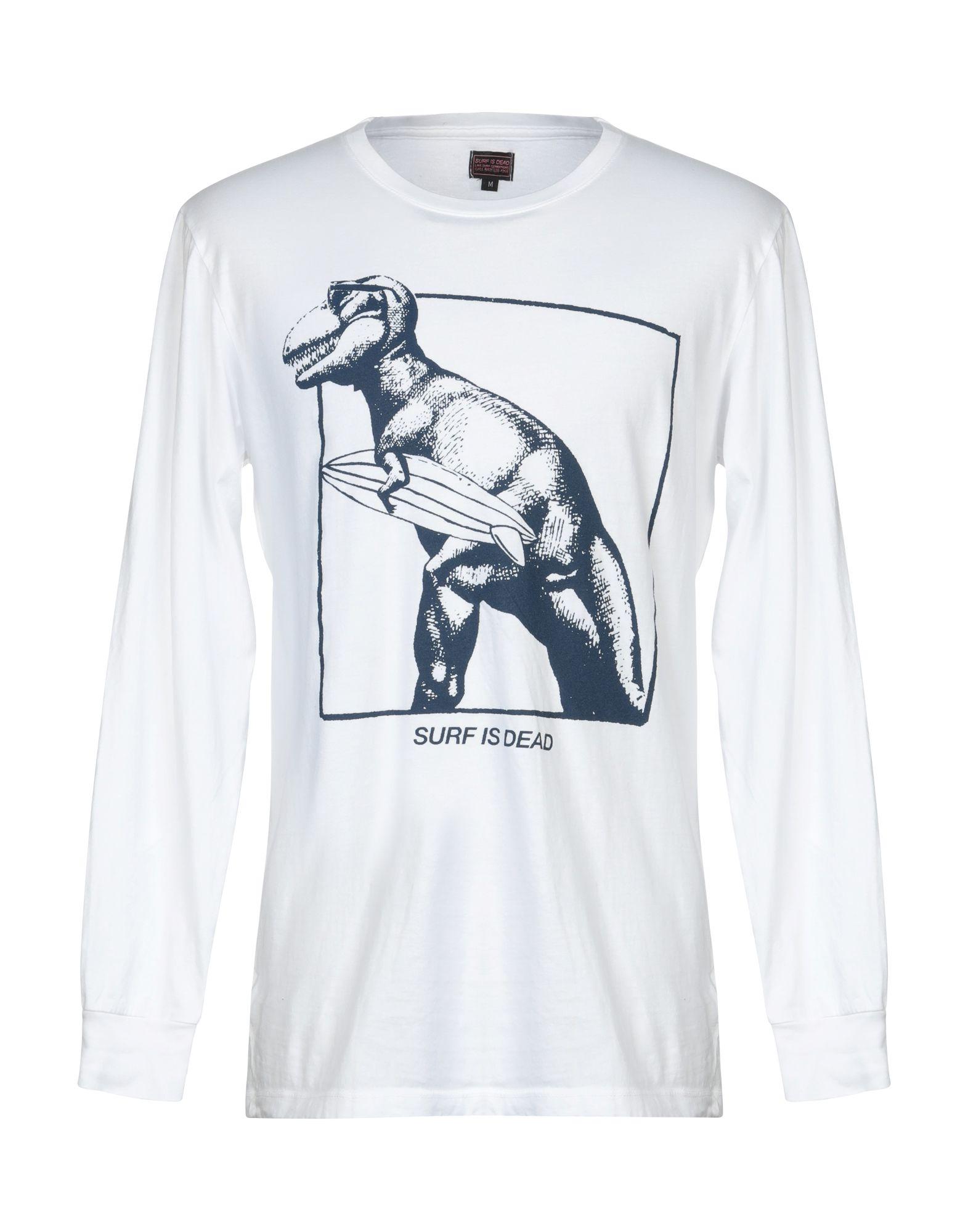 《セール開催中》SURF IS DEAD メンズ T シャツ ホワイト XL オーガニックコットン 100%