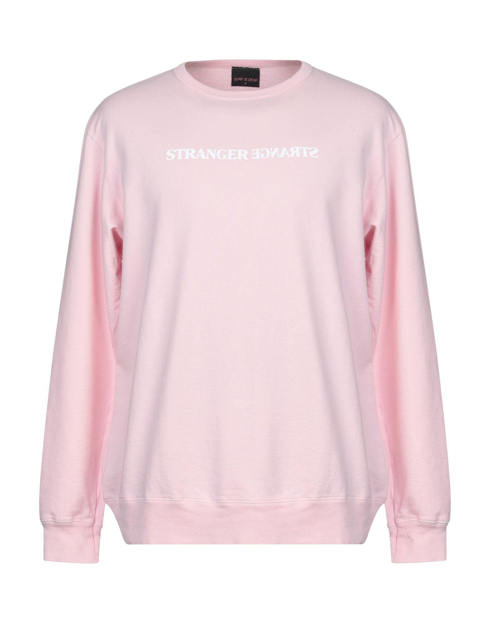 《送料無料》SURF IS DEAD メンズ スウェットシャツ ピンク M オーガニックコットン 100%