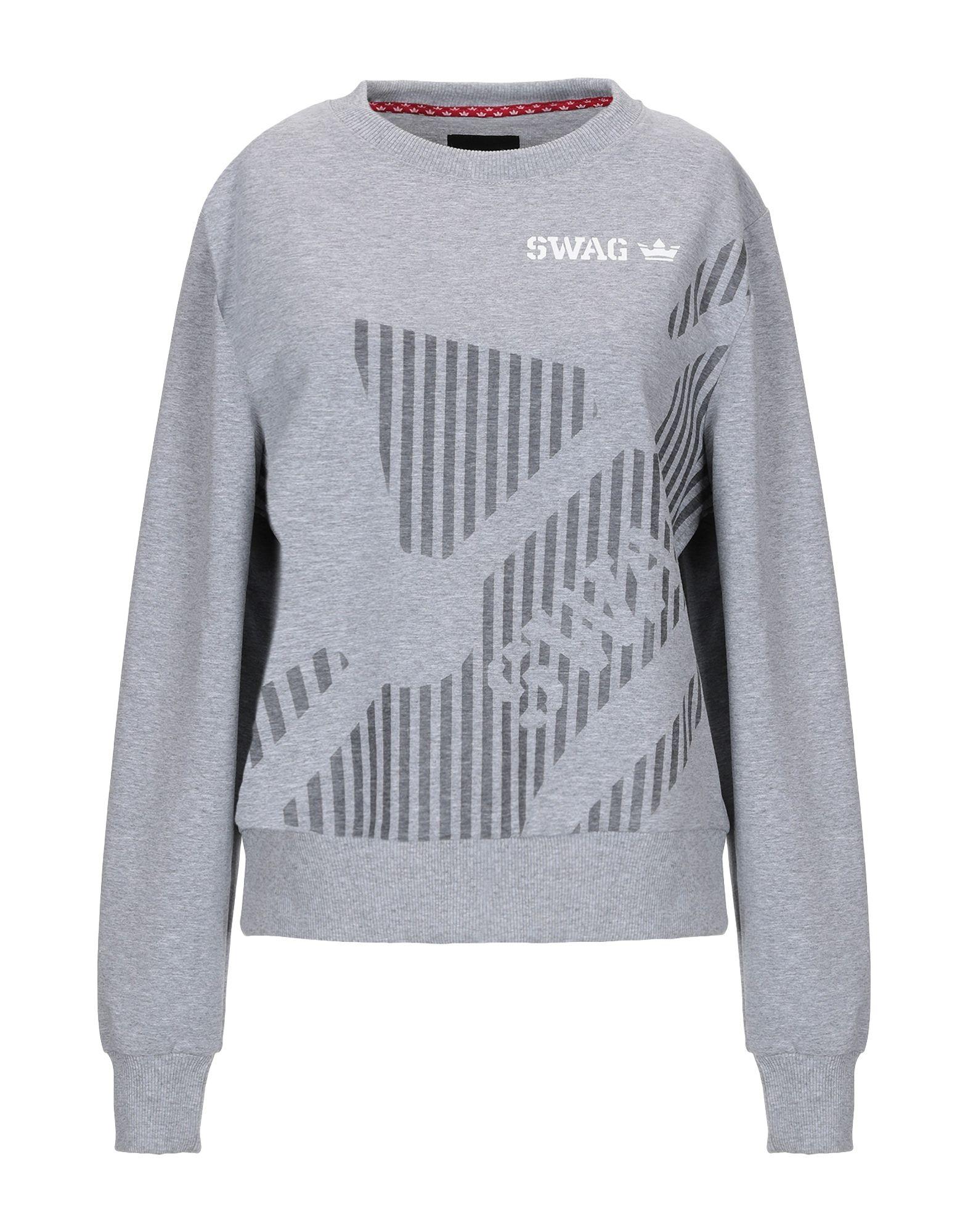 《セール開催中》SWAG レディース スウェットシャツ グレー XS コットン 95% / ポリウレタン 5%