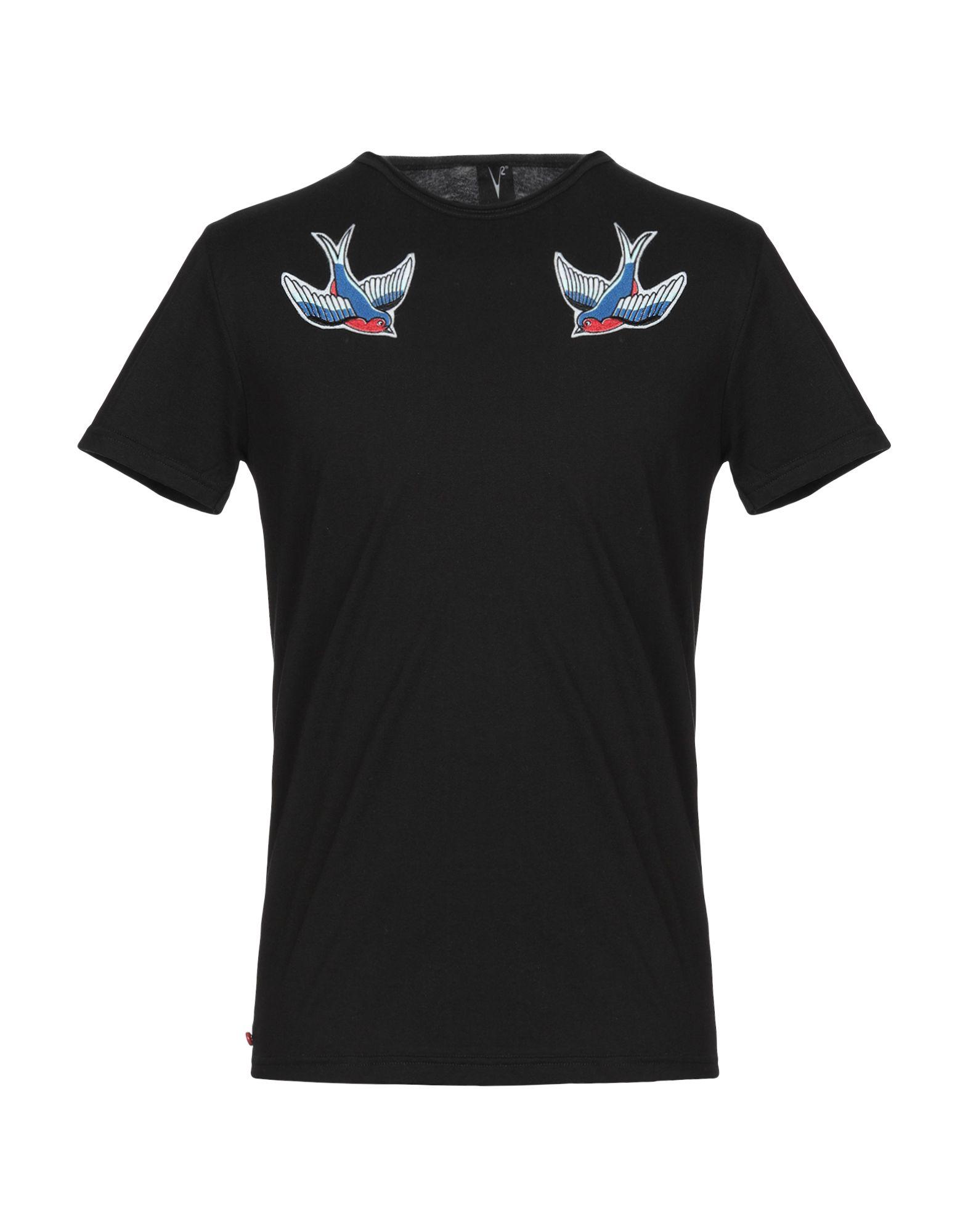 《セール開催中》V2? LIVING CLOTHING メンズ T シャツ ブラック S コットン 100%